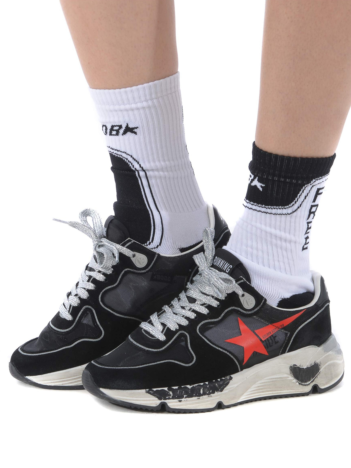 Golden Goose - Running Sole black sneakers - trainers - G34WS963C6