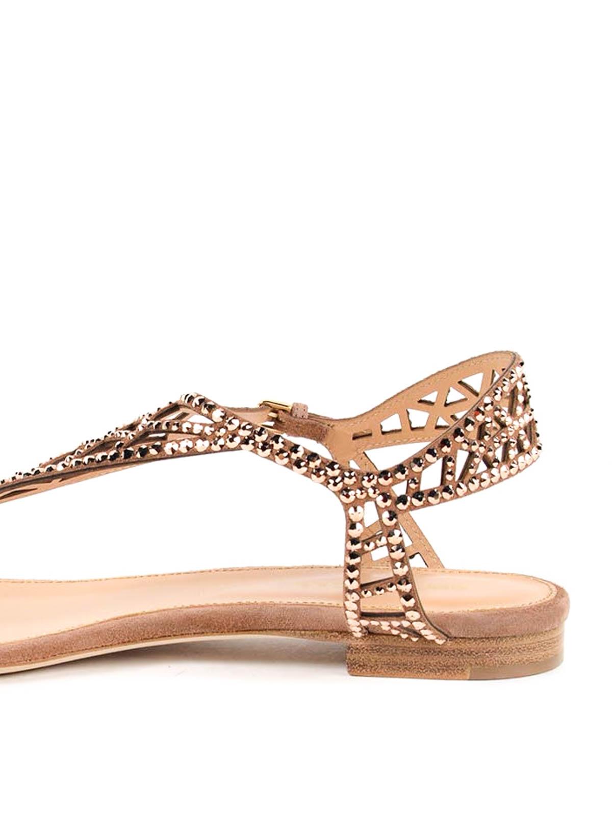 tresor flat sandals by sergio rossi sandals ikrix. Black Bedroom Furniture Sets. Home Design Ideas