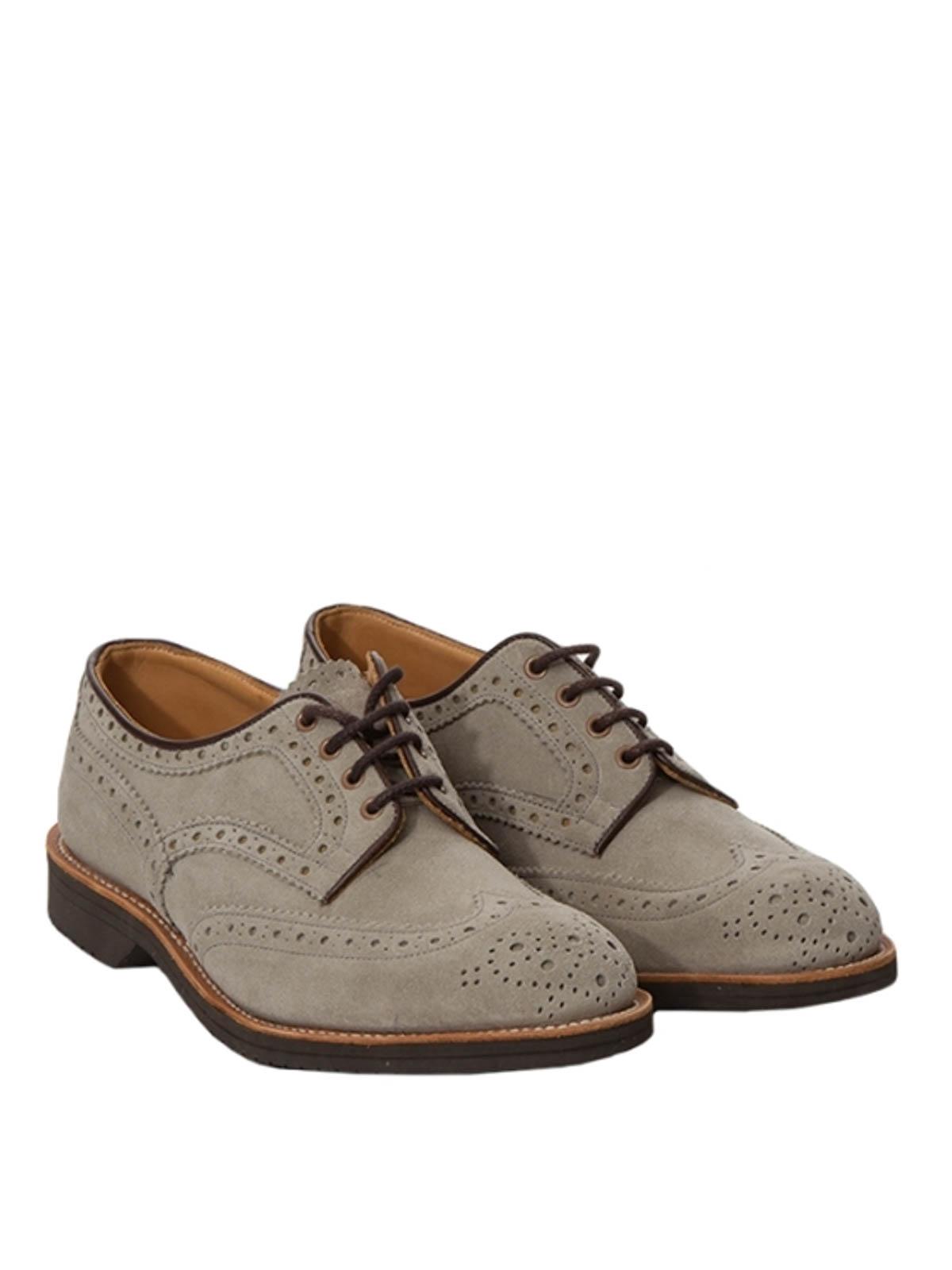 check out 8c100 a9e72 Tricker's - Stringate Bourton in camoscio - scarpe stringate ...