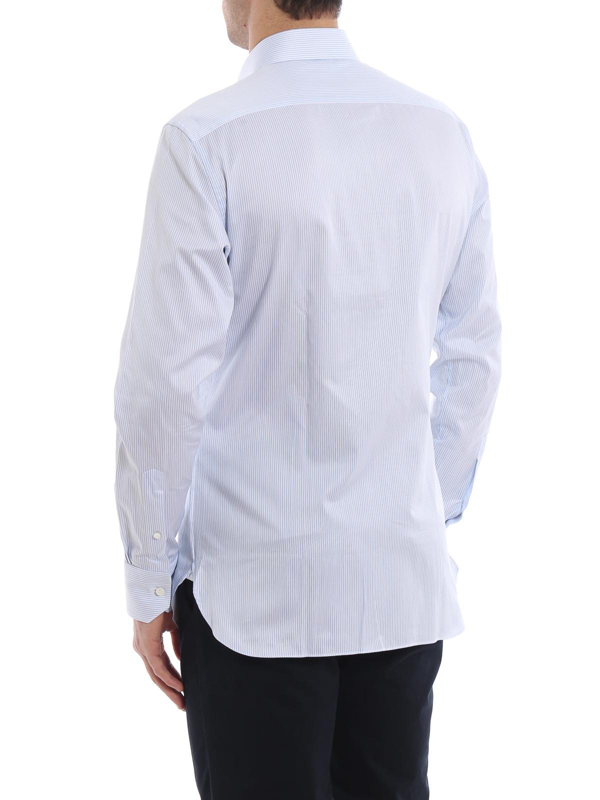 98d6609d63 Ermenegildo Zegna - Trofeo striped cotton shirt - shirts - 5010409MS0MT