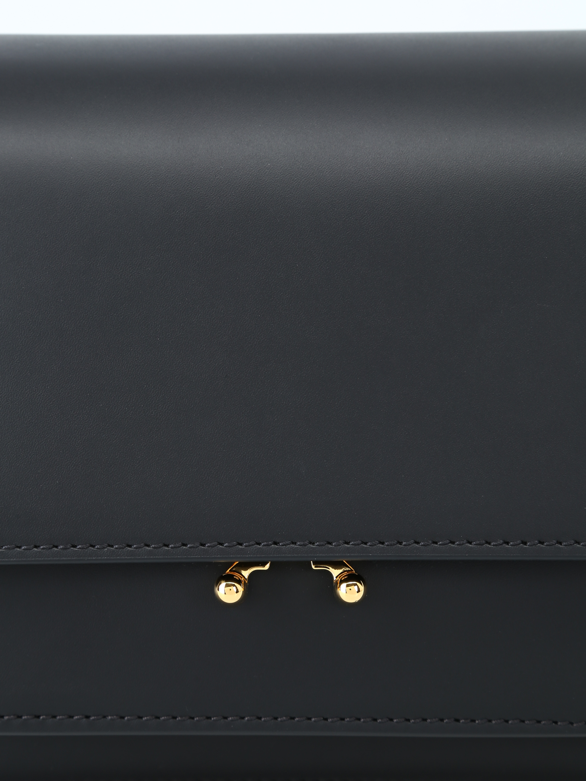5529714cd7 Marni - Trunk black smooth leather bag - shoulder bags ...