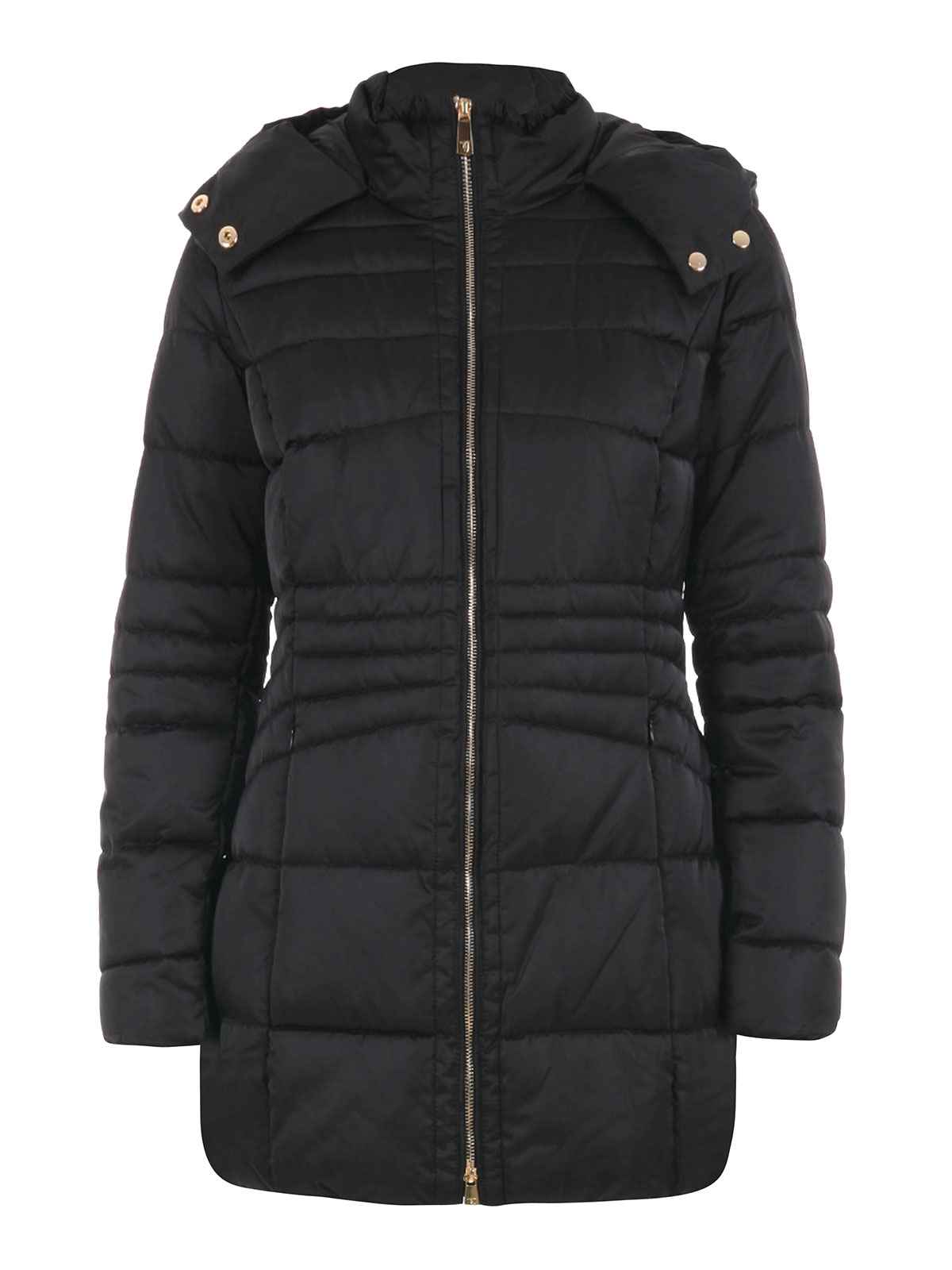 quilted padded jacket with hood by trussardi casual