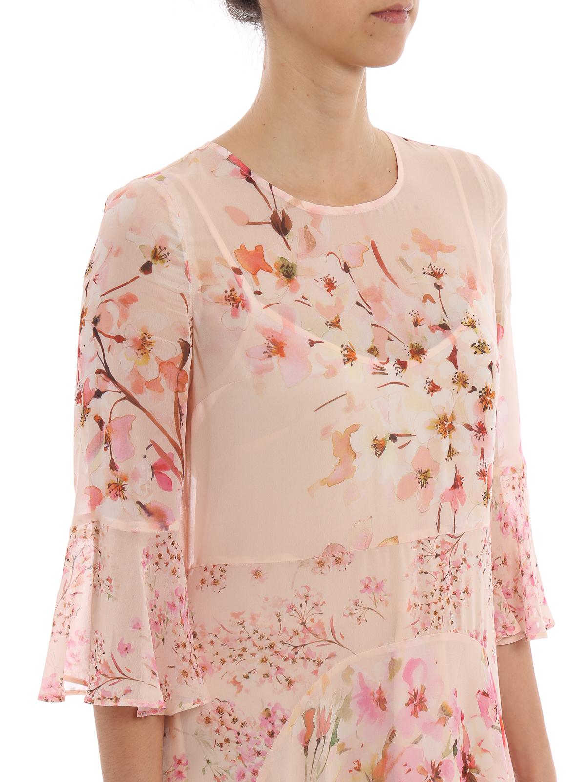 b40bc6cd2d9a Twinset - Floral print georgette long dress - maxi dresses ...