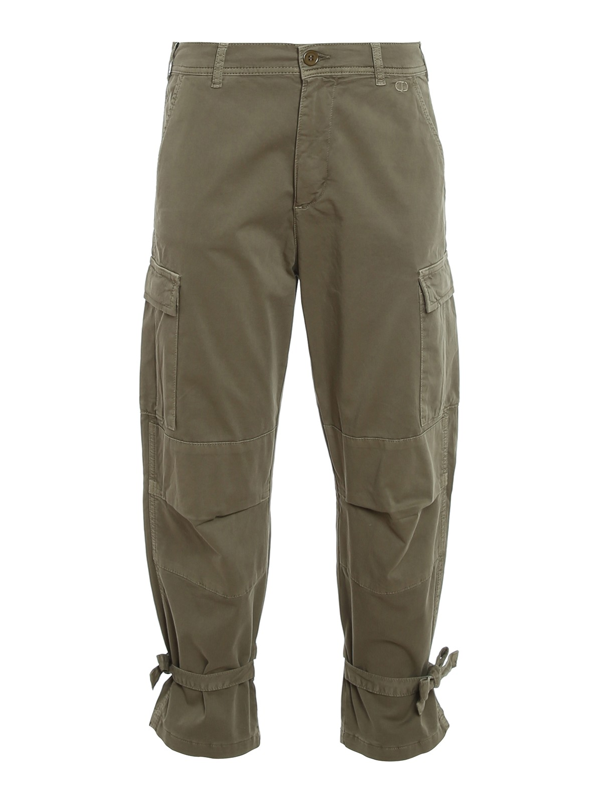 Twinset COTTON BLEND CARGO TROUSERS
