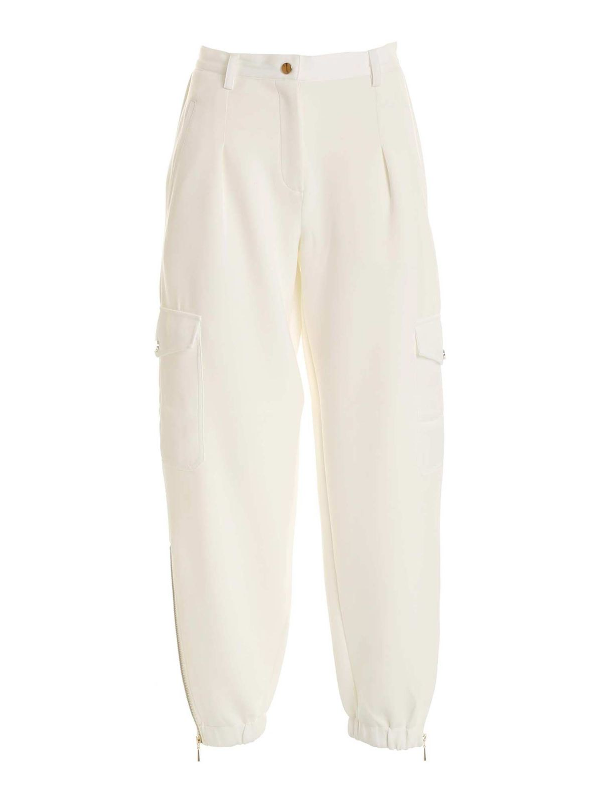 Twinset LOGO CHARM PANTS IN IVORY COLOR