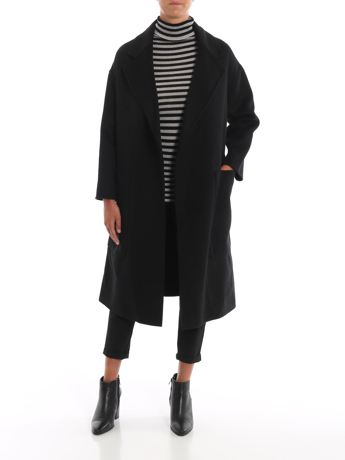 innovative design 5045c 14328 Twinset - Cappotto a vestaglia in panno di misto lana ...