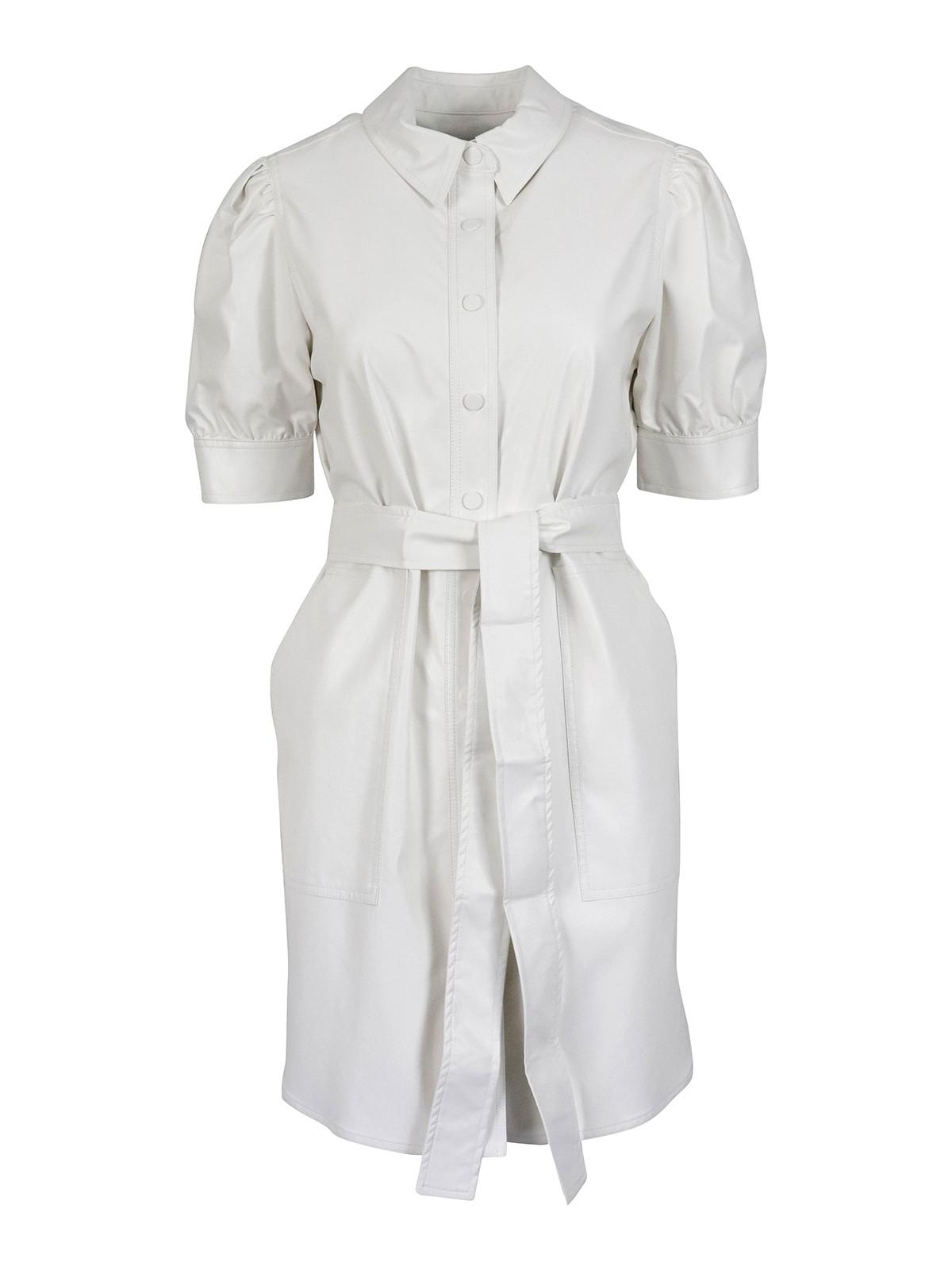 Twinset Dresses COATED FABRIC SHIRT DRESS