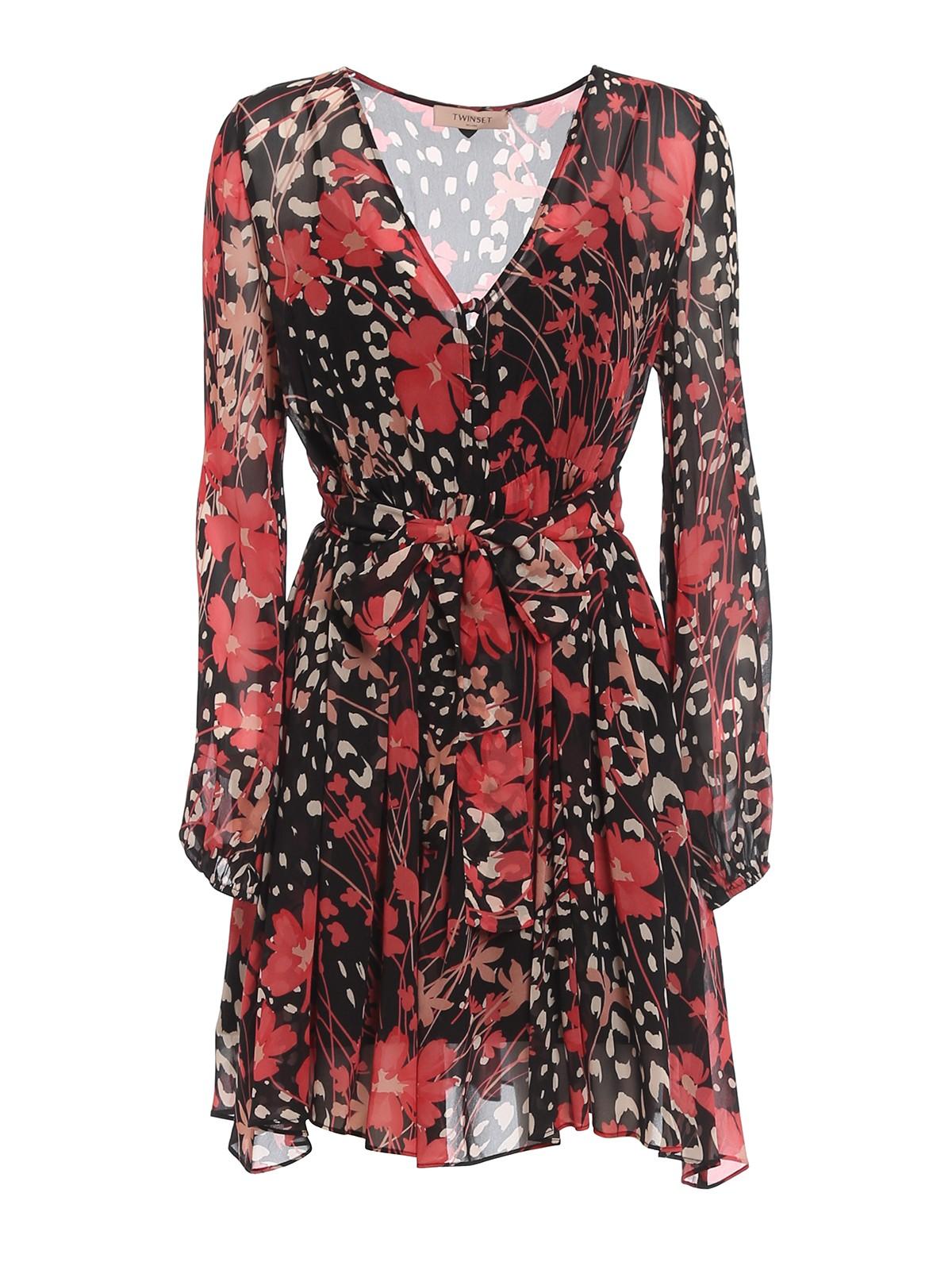 Twinset GEORGETTE VISCOSE SHORT DRESS