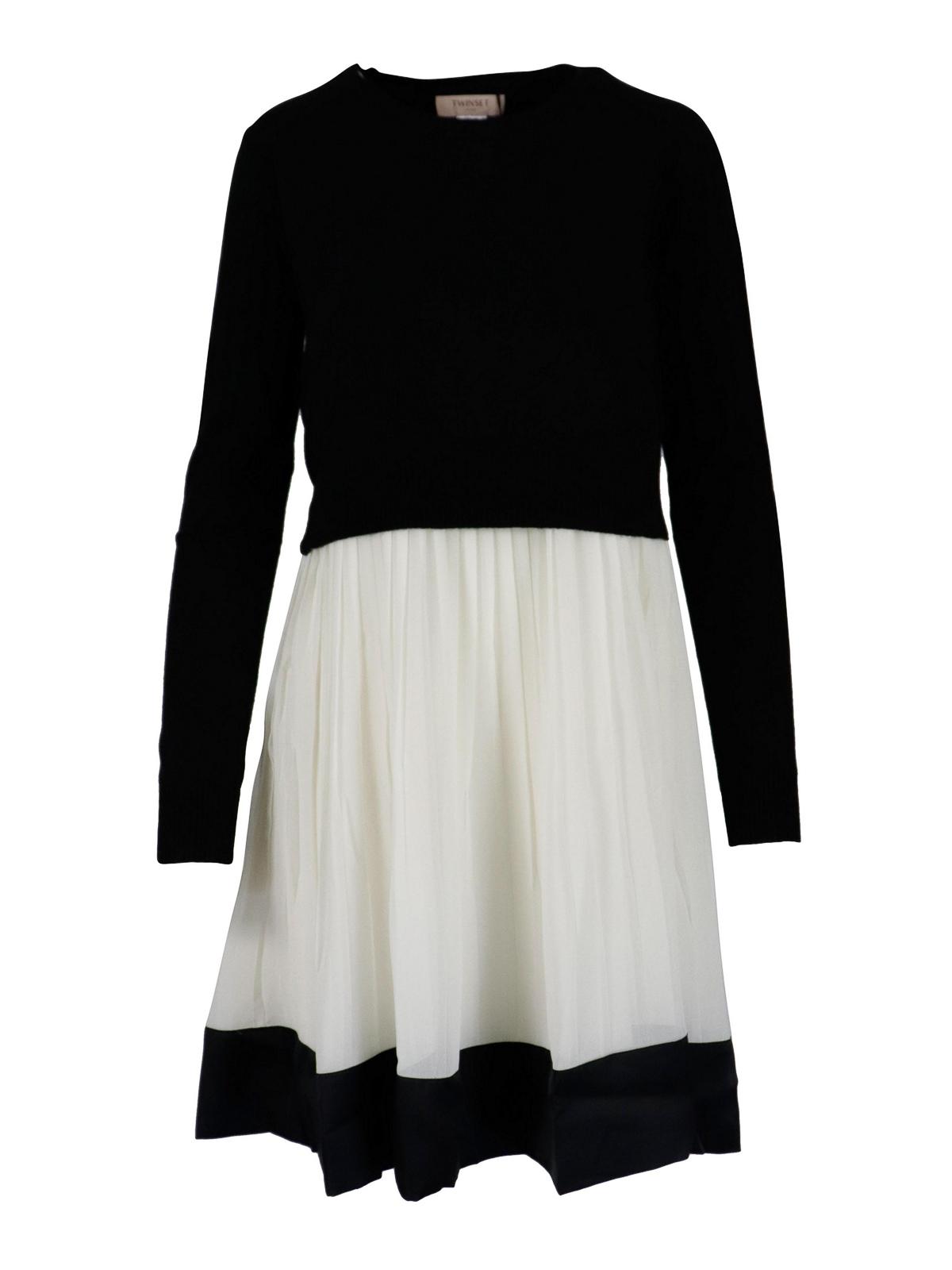 Twinset PLEATED SKIRT SHORT DRESS