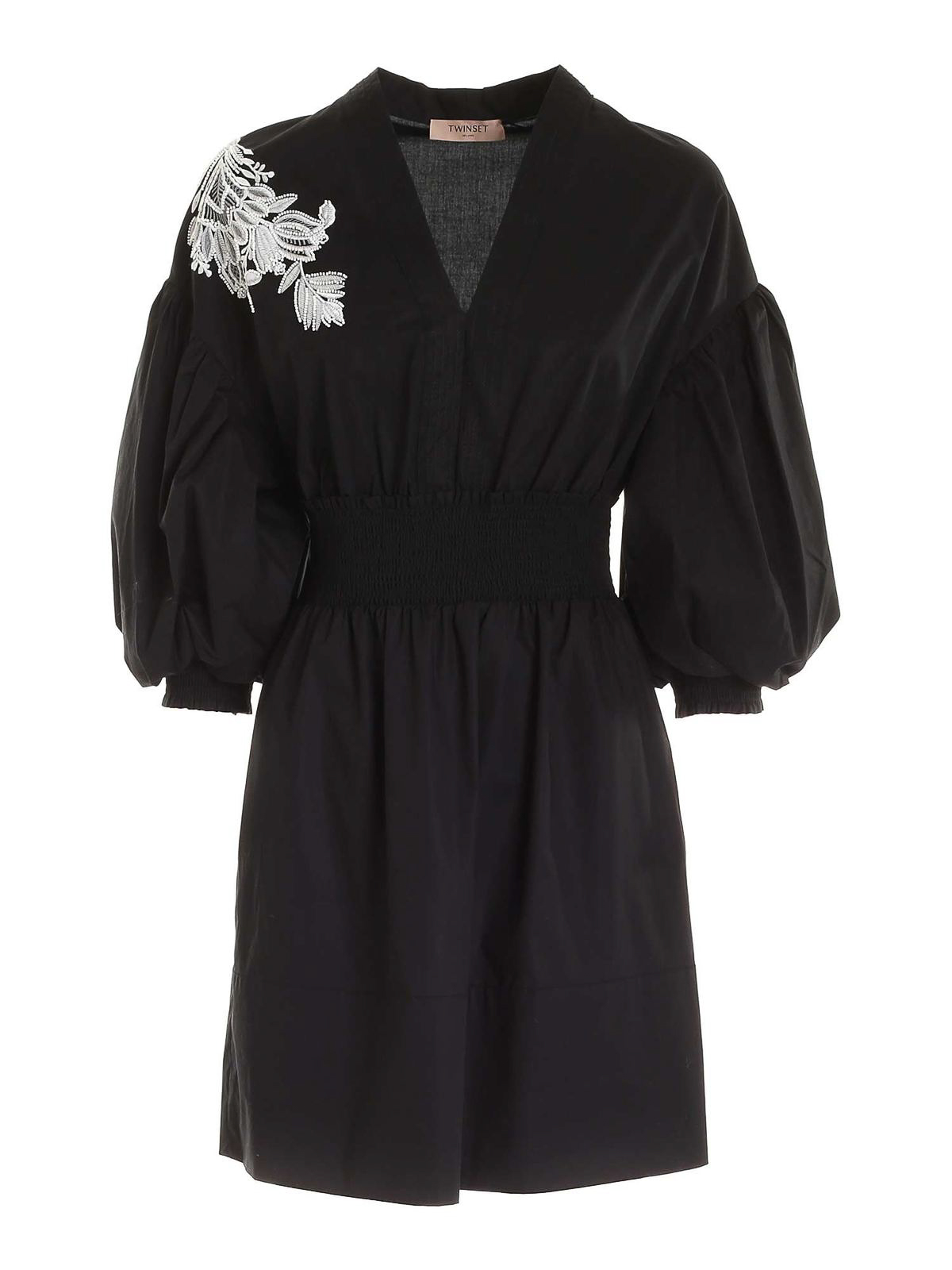 Twinset Cottons POPLIN KIMONO-STYLE DRESS