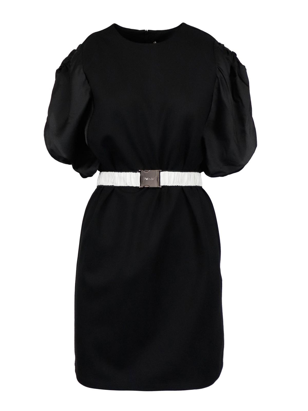 Twinset VISCOSE BLEND SHORT DRESS