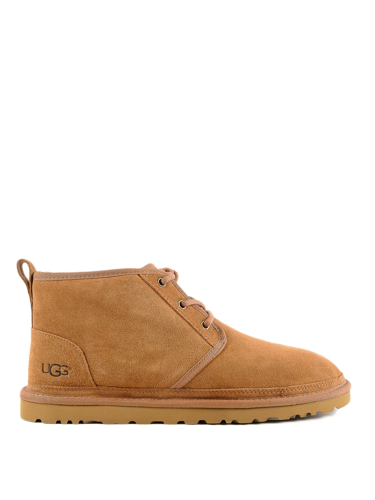 001683b0145 Ugg - Logo detail suede soft lace-up ankle boots - ankle boots ...