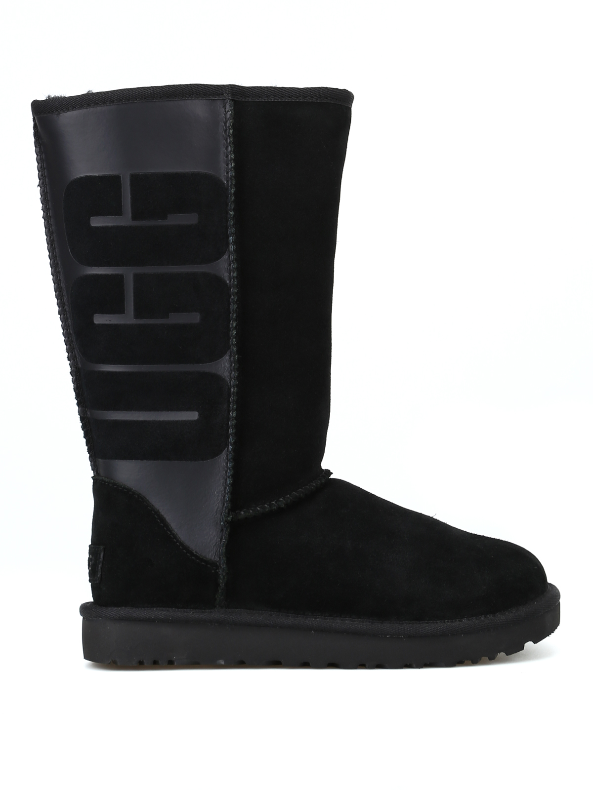 Classic Tall Ugg Rubber black boots