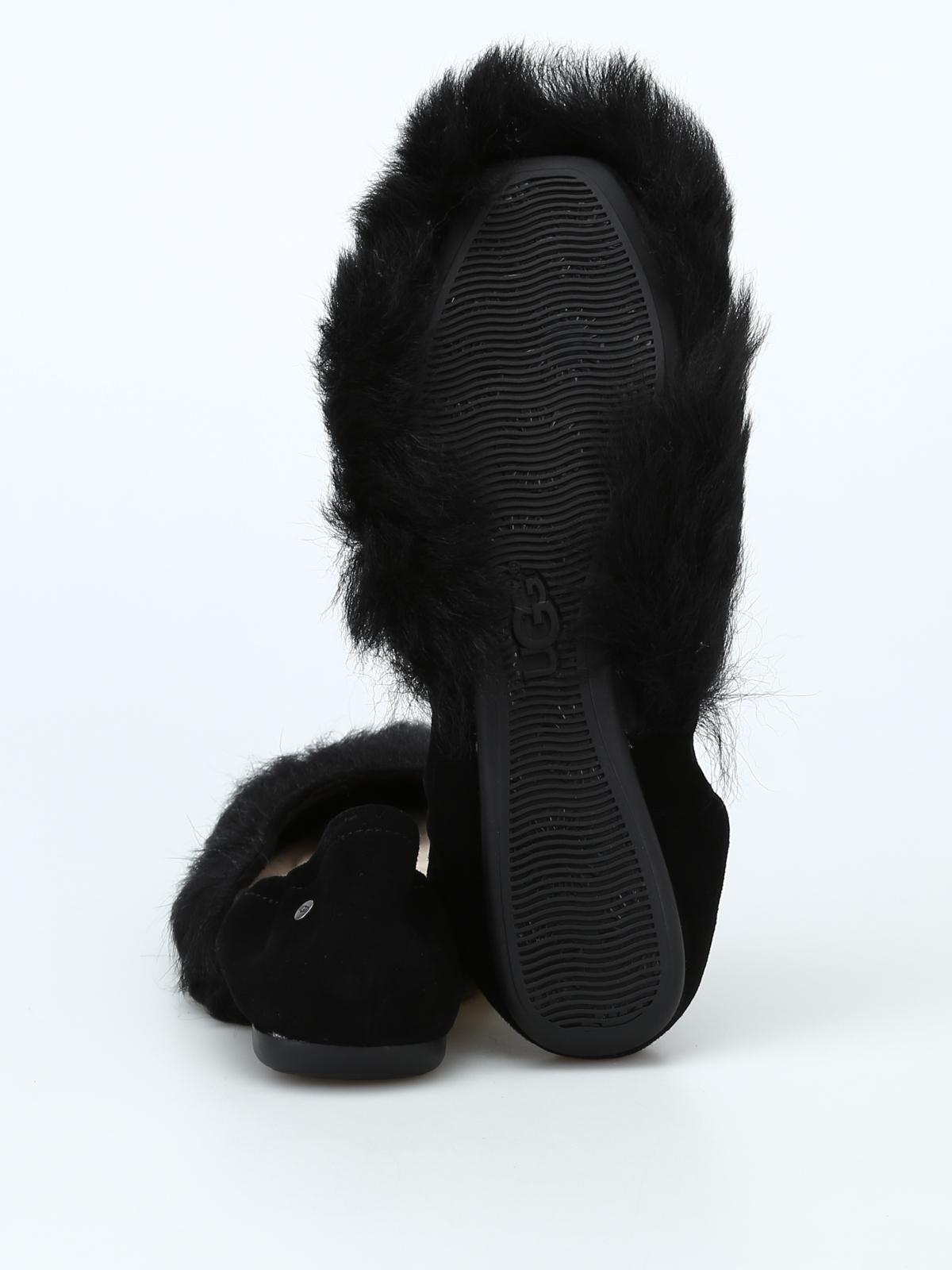 Ugg - Black Fluff Flat shoes - flat