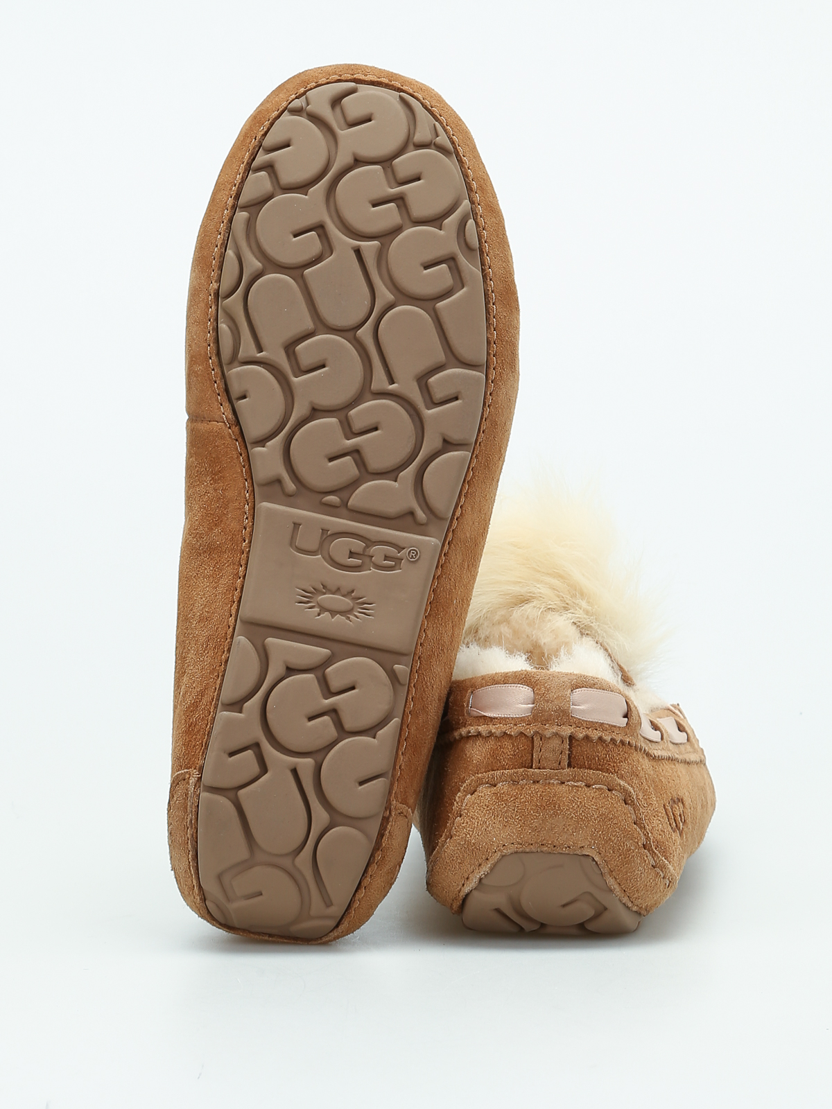 8563e96761 Ugg - Dakota Pom Pom slippers - Loafers   Slippers - 1019015 W CHE