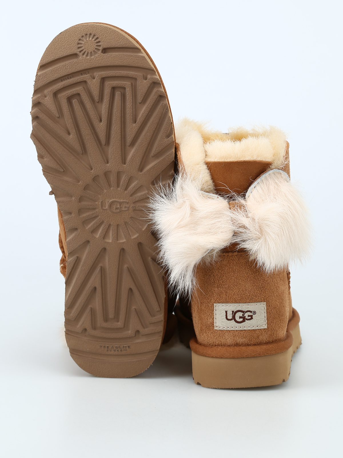 c7b97b785d4 Ugg - Fluff Bow Mini ankle boots - ankle boots - 1094967WCHESTNUT