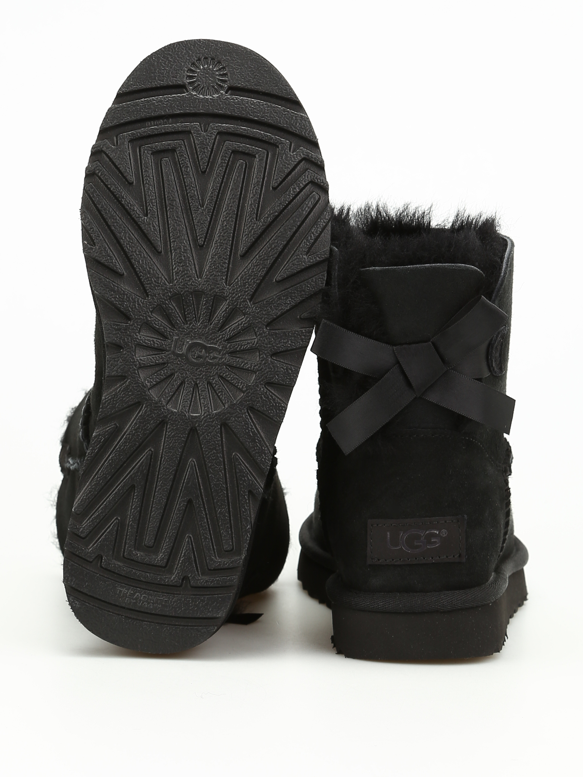bedfe7934 Ugg - Mini Bailey Bow ankle boots - ankle boots - 1016501 BLACK