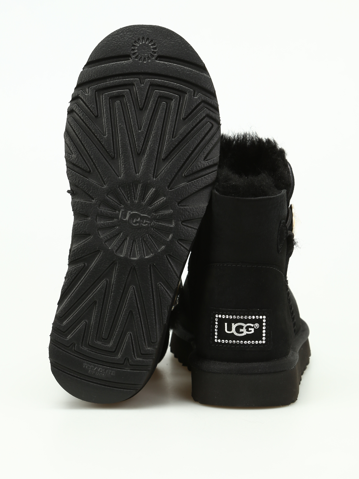 ugg mini bailey button neri