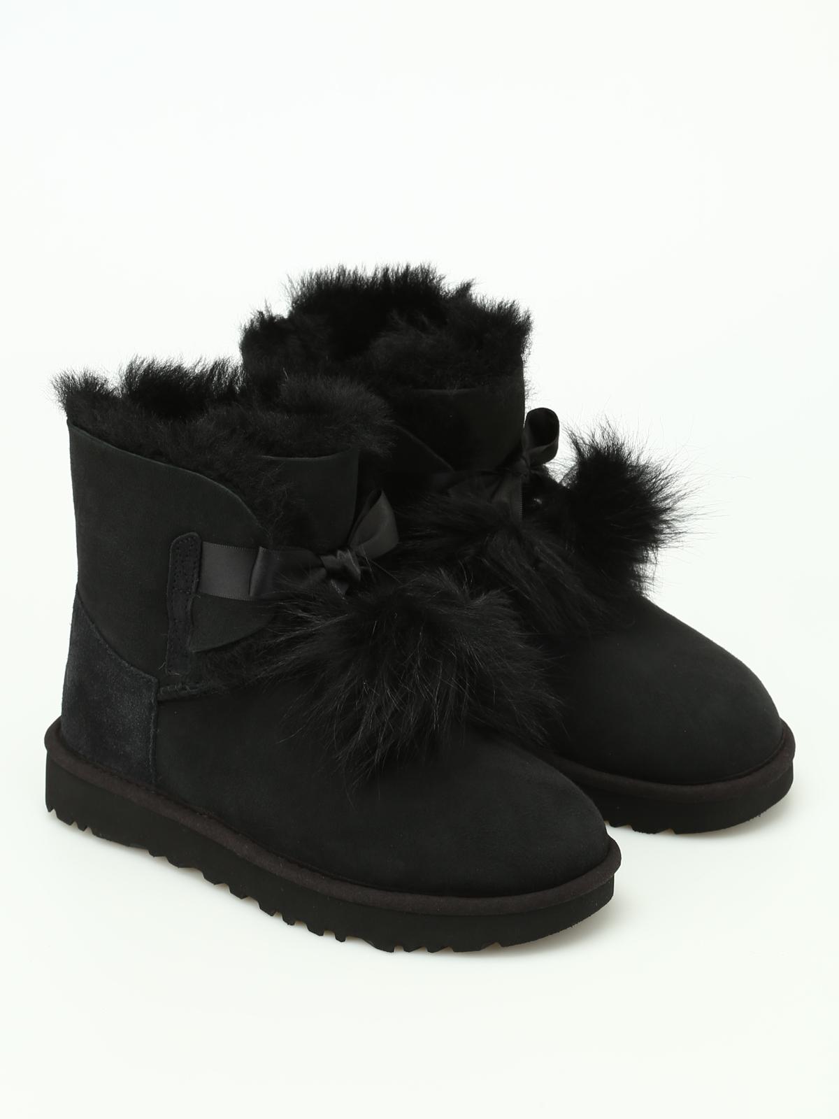 Ugg - Gita black suede booties - ankle