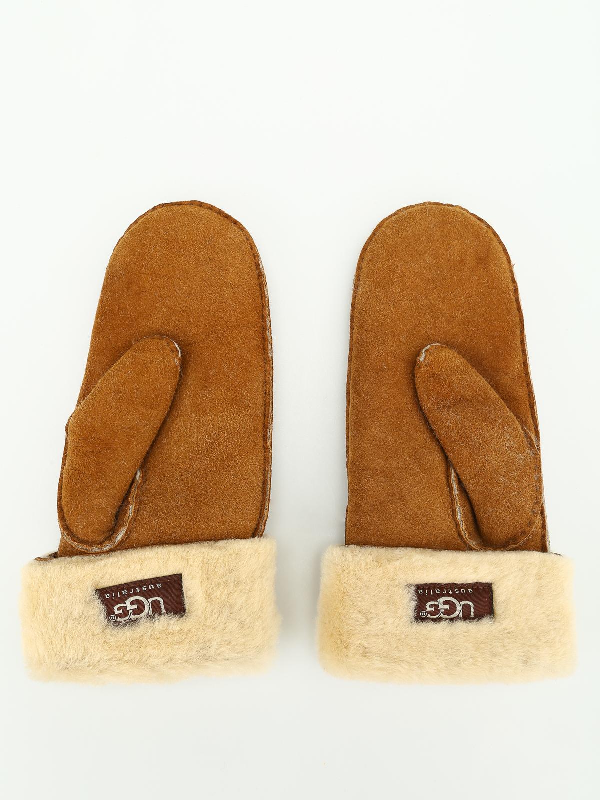 dcaa6a96550 Ugg - Shearling mittens - gloves - U1001 CHESTNUT | Shop online at iKRIX