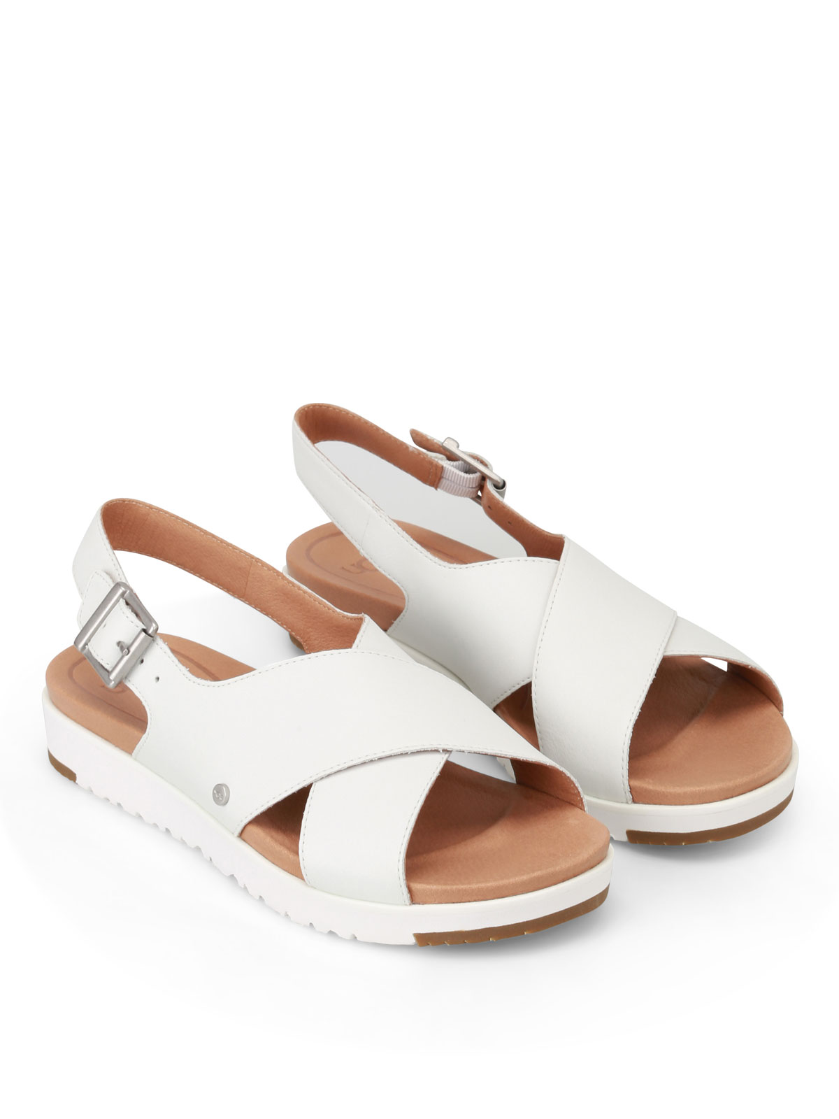 Ugg Kamile white leather sandals sandals W KAMILE