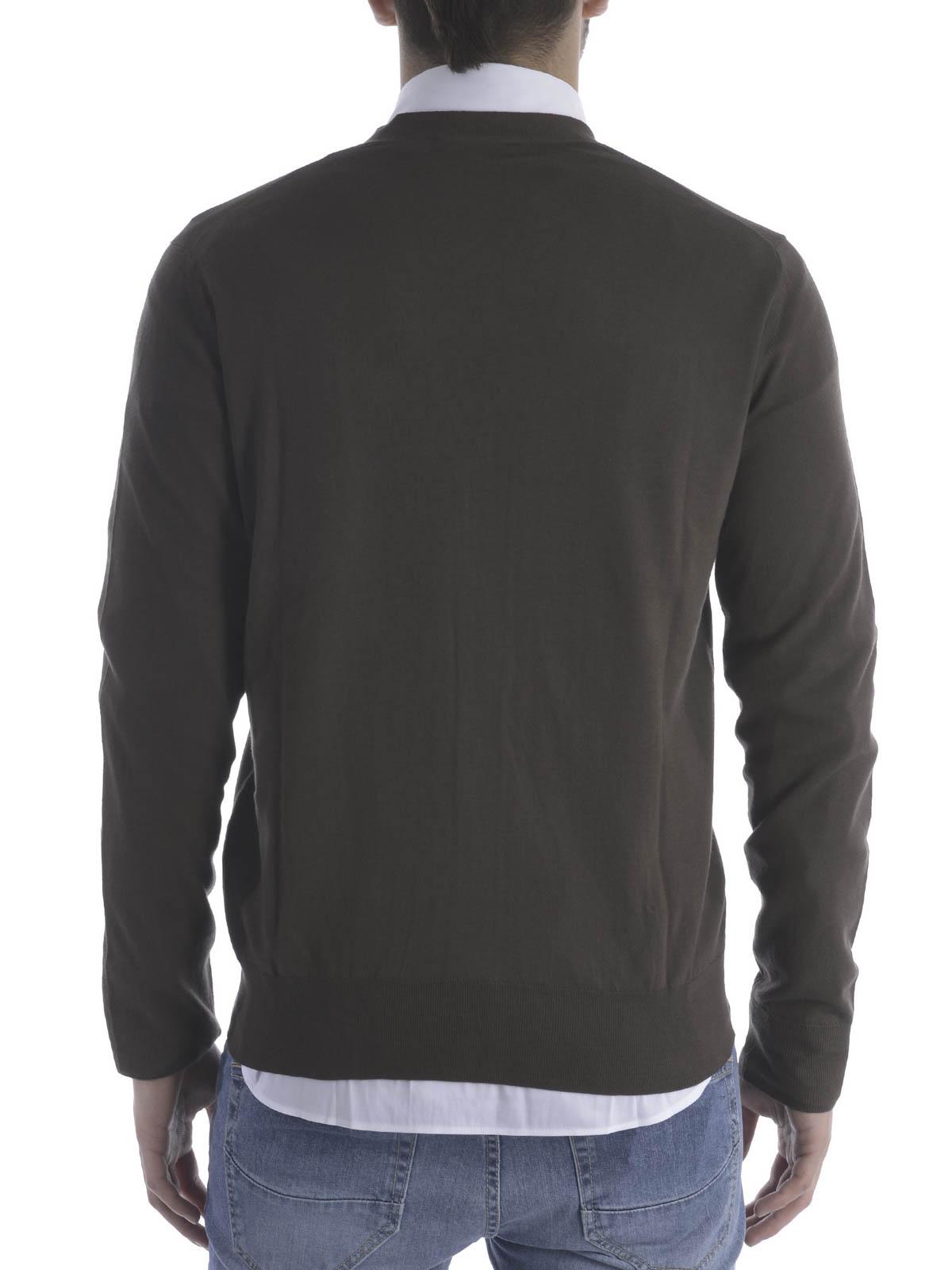 timeless design ee981 d6ead Fay - Cardigan in filo di cotone - cardigan - NMMC132253T ...