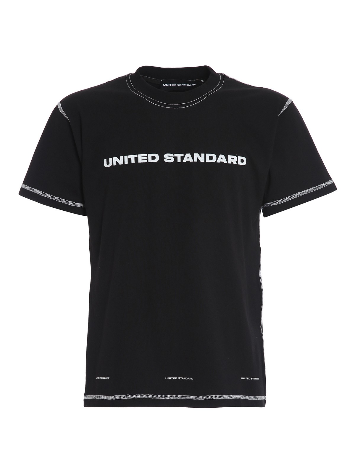 United Standard Logo Cotton T-shirt In Black