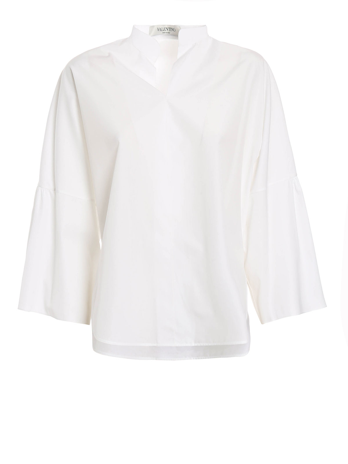 Valentino Bell Sleeves Cotton Blouse Blouses Mb3ab06x1lw 0bo