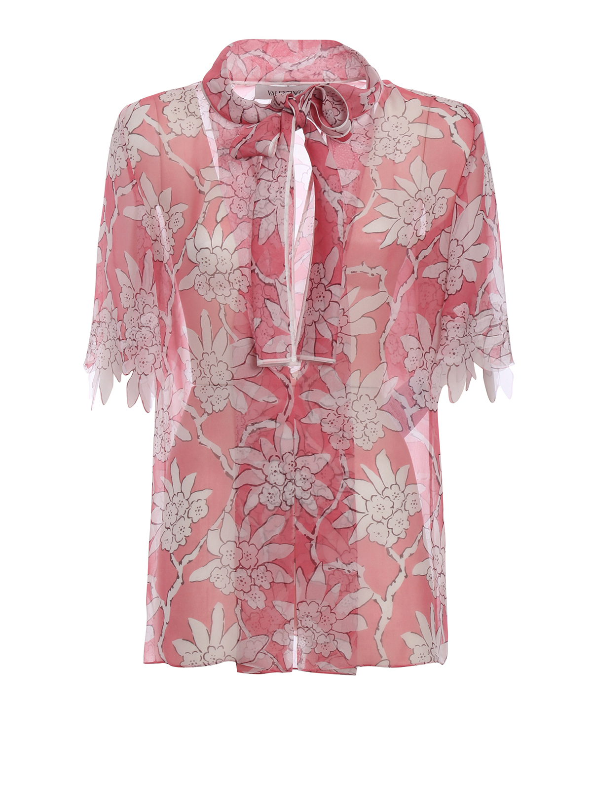 c49f2f9af246 Valentino - Rhododendron print silk blouse - blouses - PB3AA0203Q0 I78