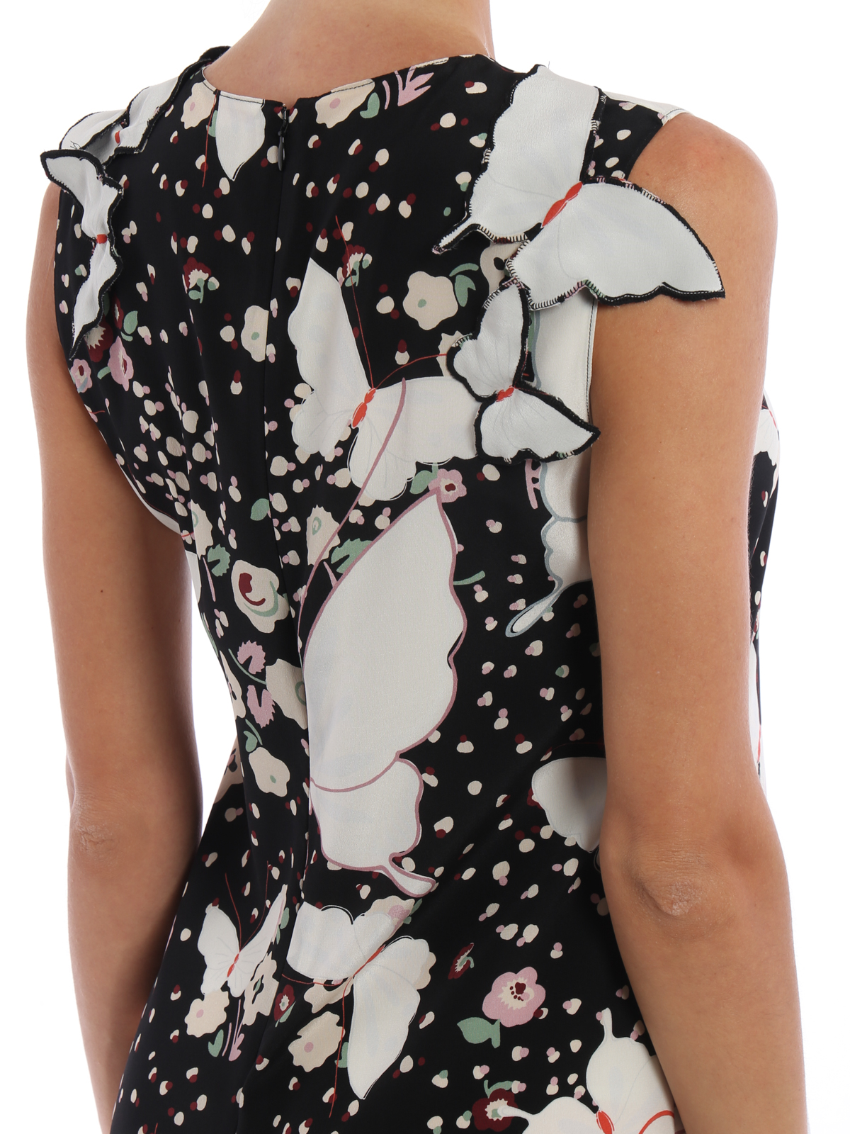 4ab464b9ce393 VALENTINO buy online Butterfly silk sleeveless dress. VALENTINO: cocktail  dresses ...