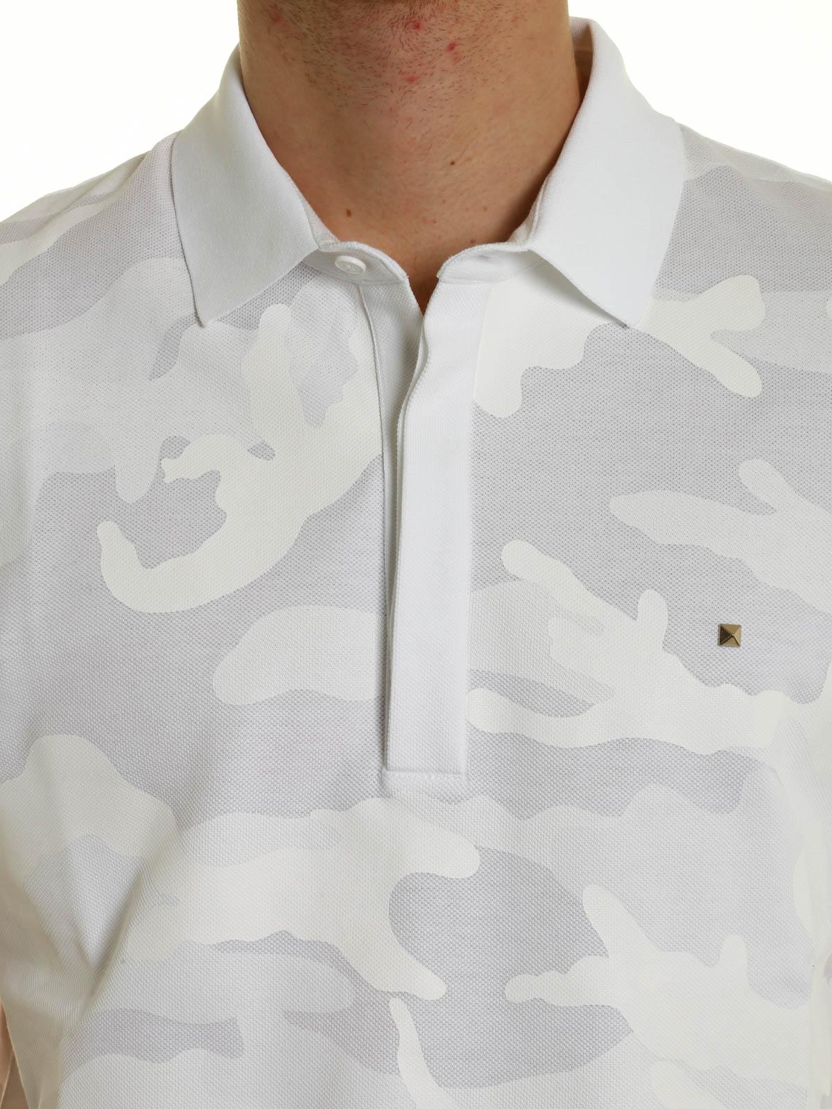 e6b47a0a Valentino - Camouflage print polo shirt - polo shirts - MV3MH00M 3MC F99