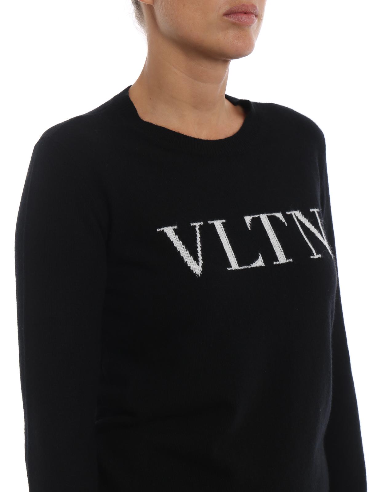 e6af18b1a0171 Valentino - VLTN intarsia wool and cashmere sweater - crew necks ...