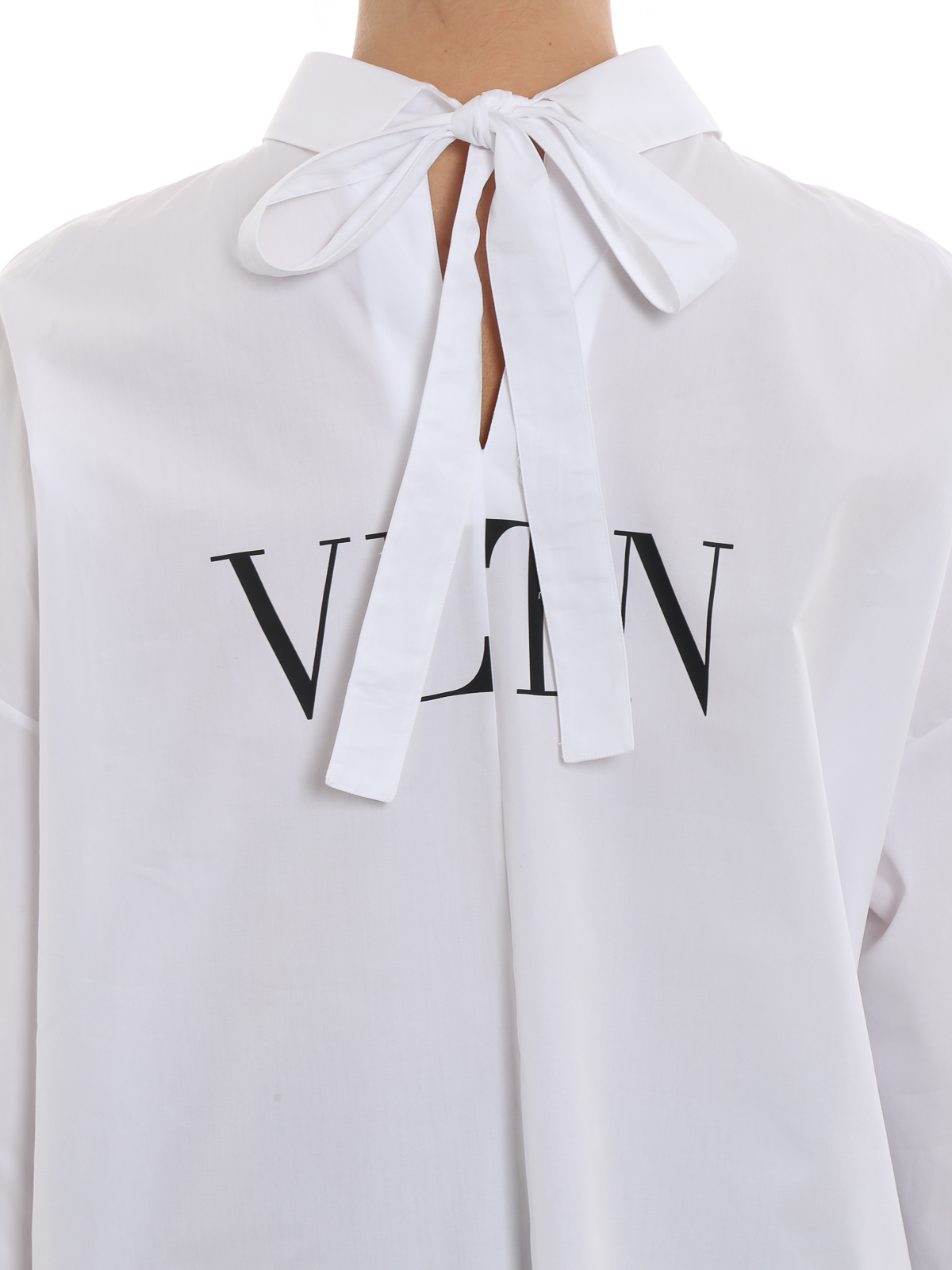 real quality ever popular brand quality Valentino - White cotton VLTN shirt - shirts ...