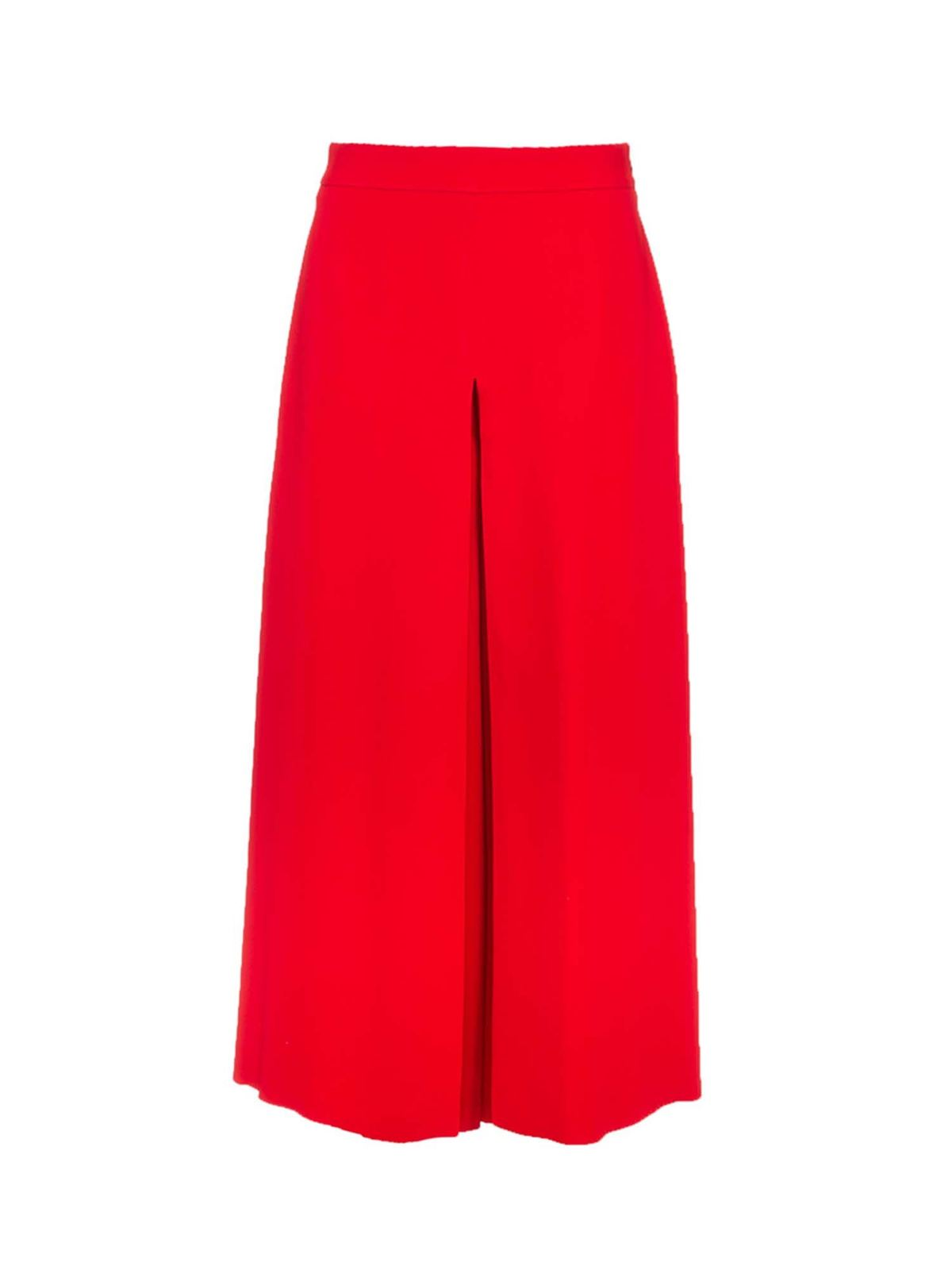 Valentino WIDE LEG PANTS IN RED