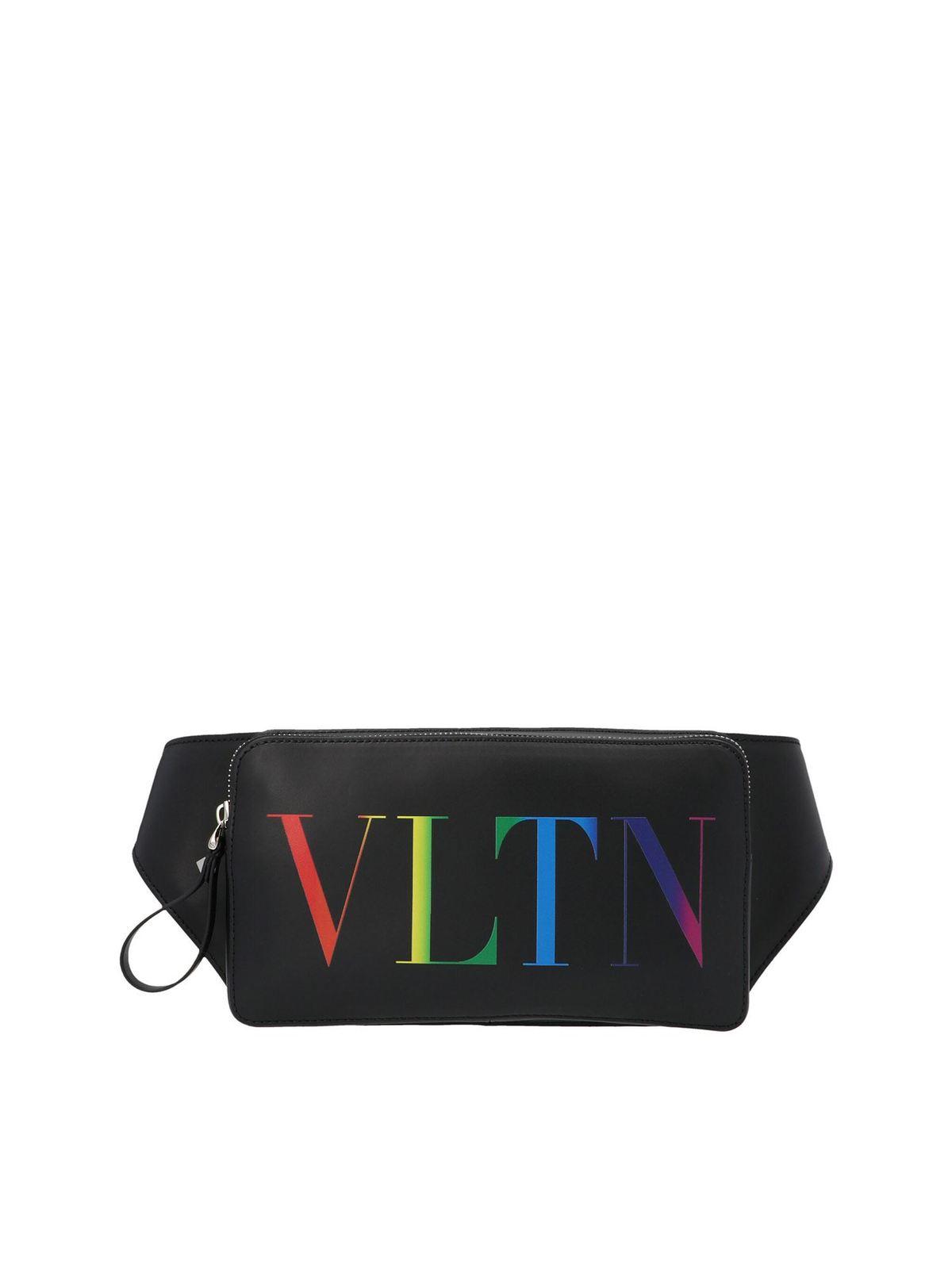 Valentino VLTN PRINT BELT BAG IN BLACK