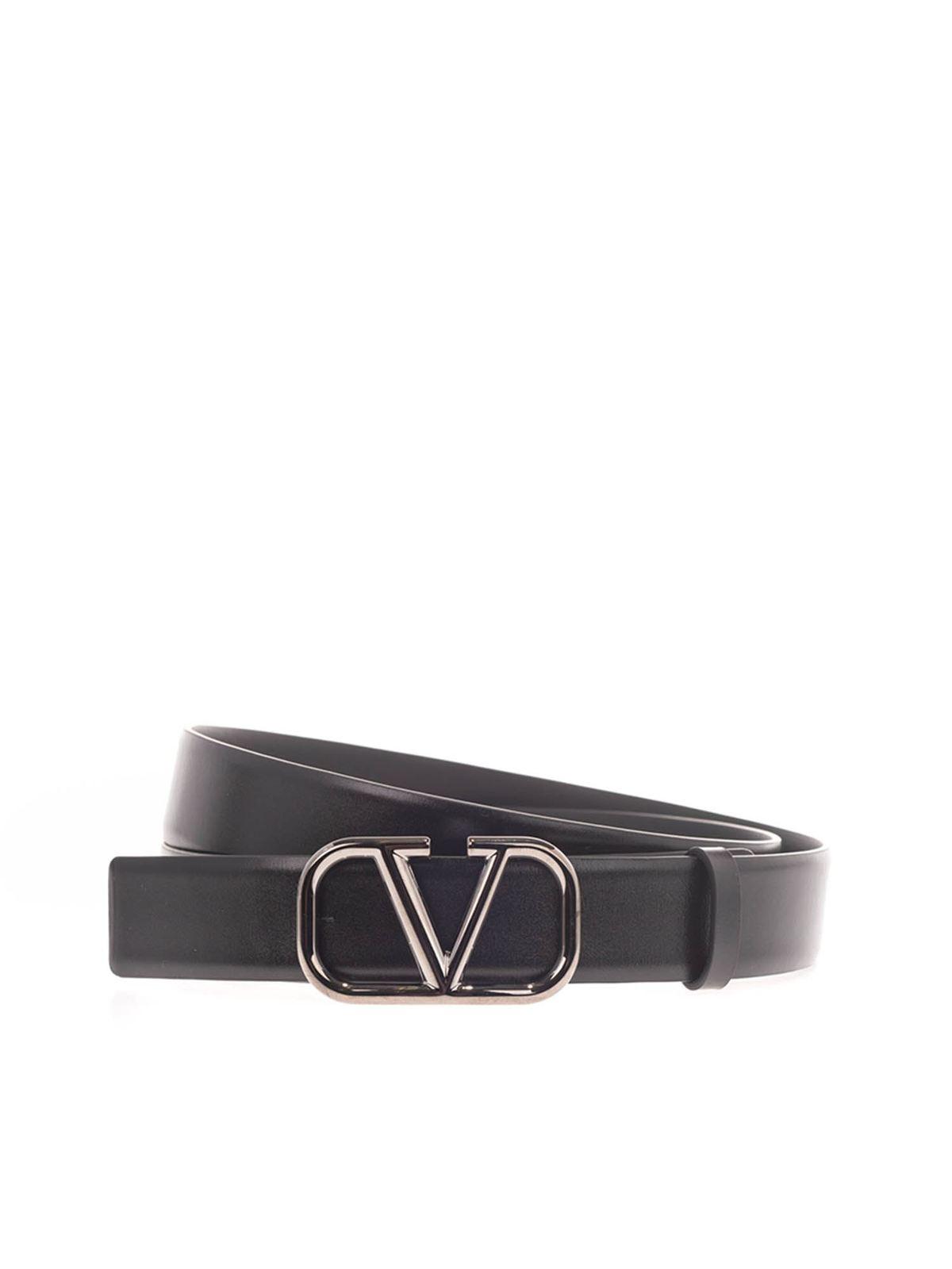 Valentino VLOGO SIGNATURE BELT IN BLACK