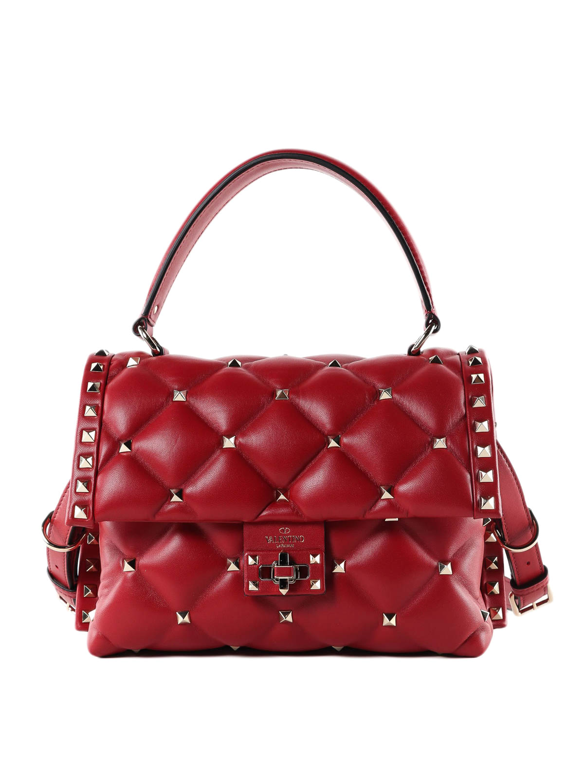 a422fe5c56f0 Valentino Garavani - Candystud quilted lambskin hand bag - bowling ...