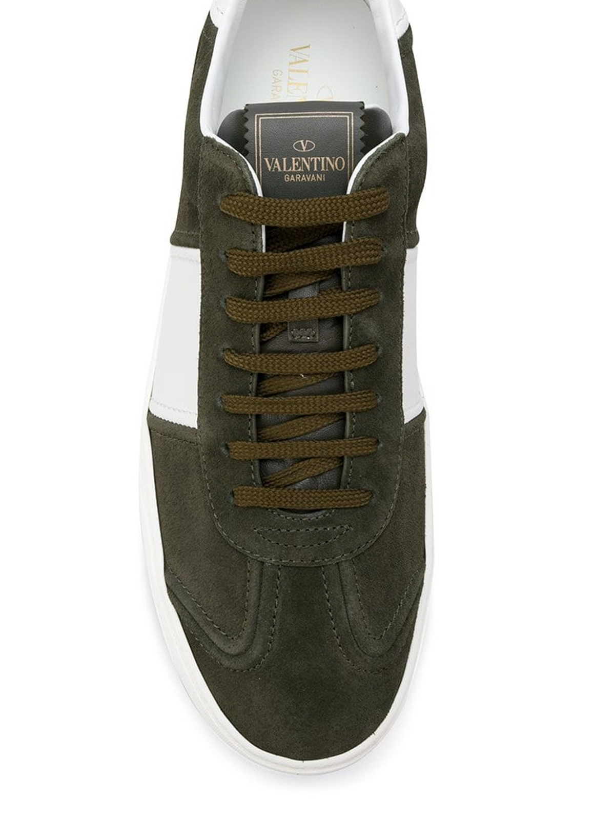 Flycrew green suede sneakers