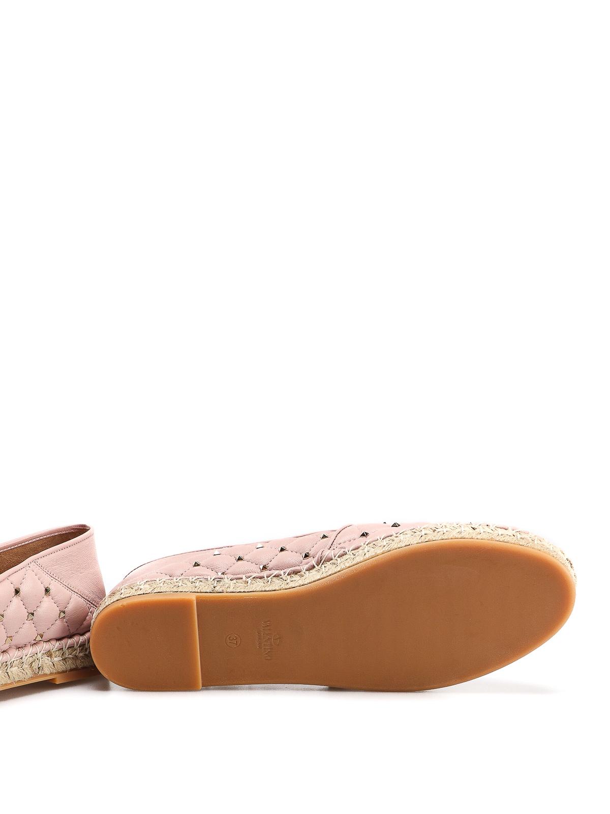 8aa6274d8 VALENTINO GARAVANI buy online Rockstud light pink leather espadrilles