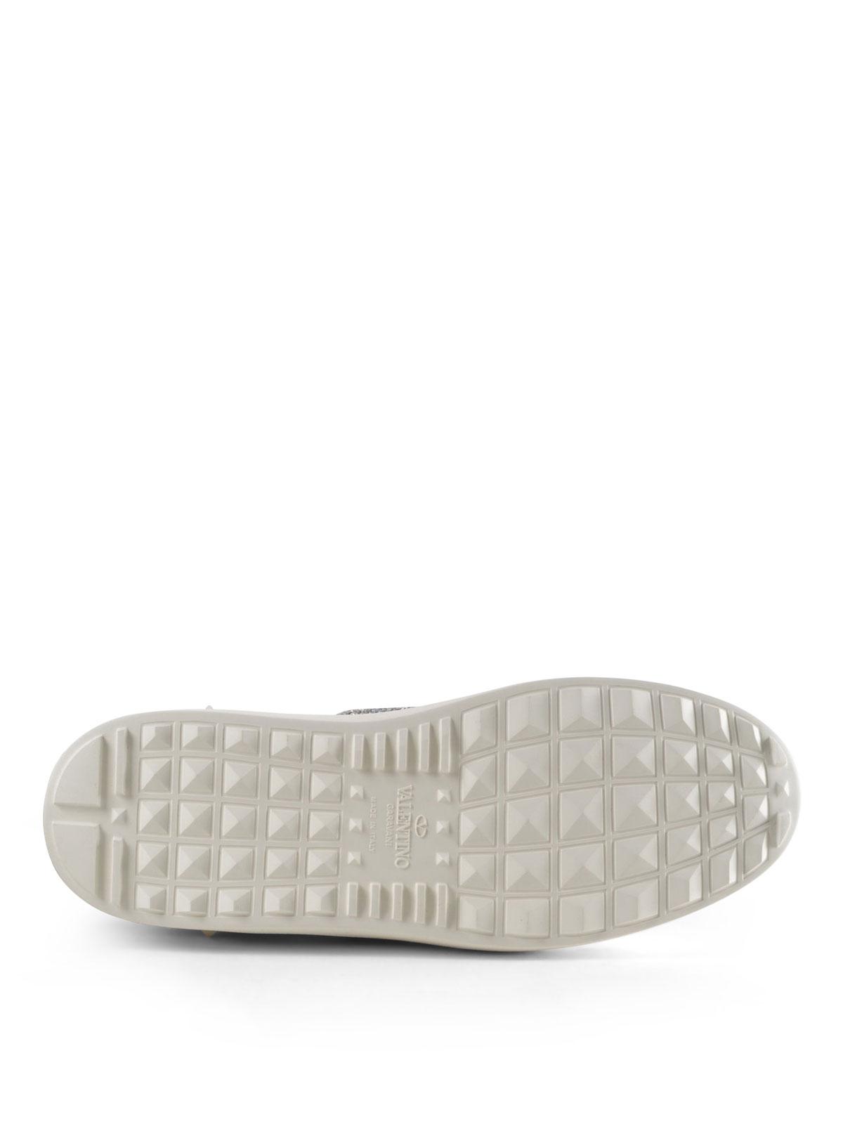 VALENTINO GARAVANI buy online Sneaker Open con banda glitter argento 75591600664