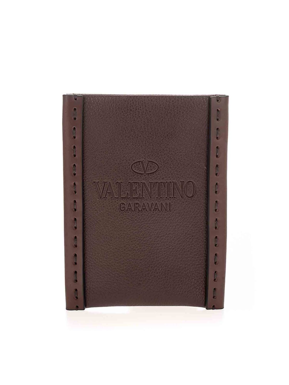 Valentino CELL PHONE HOLDER IN BROWN