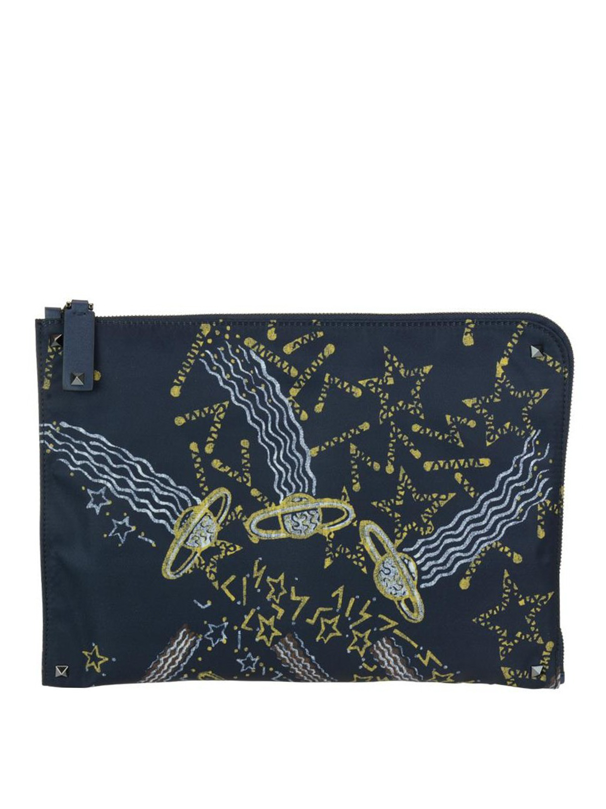 Valentino Galaxy print canvas clutch ewxUP5g3