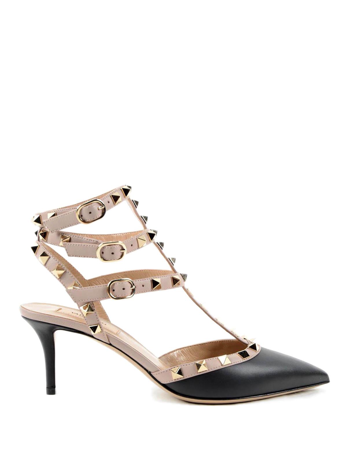 leather studded pumps by valentino garavani court shoes ikrix. Black Bedroom Furniture Sets. Home Design Ideas