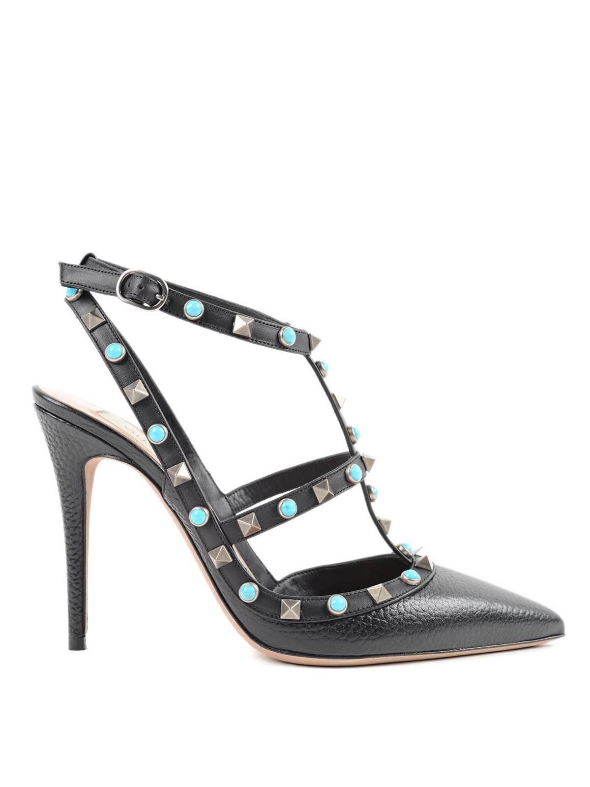 round rockstud court shoes by valentino garavani court shoes ikrix. Black Bedroom Furniture Sets. Home Design Ideas