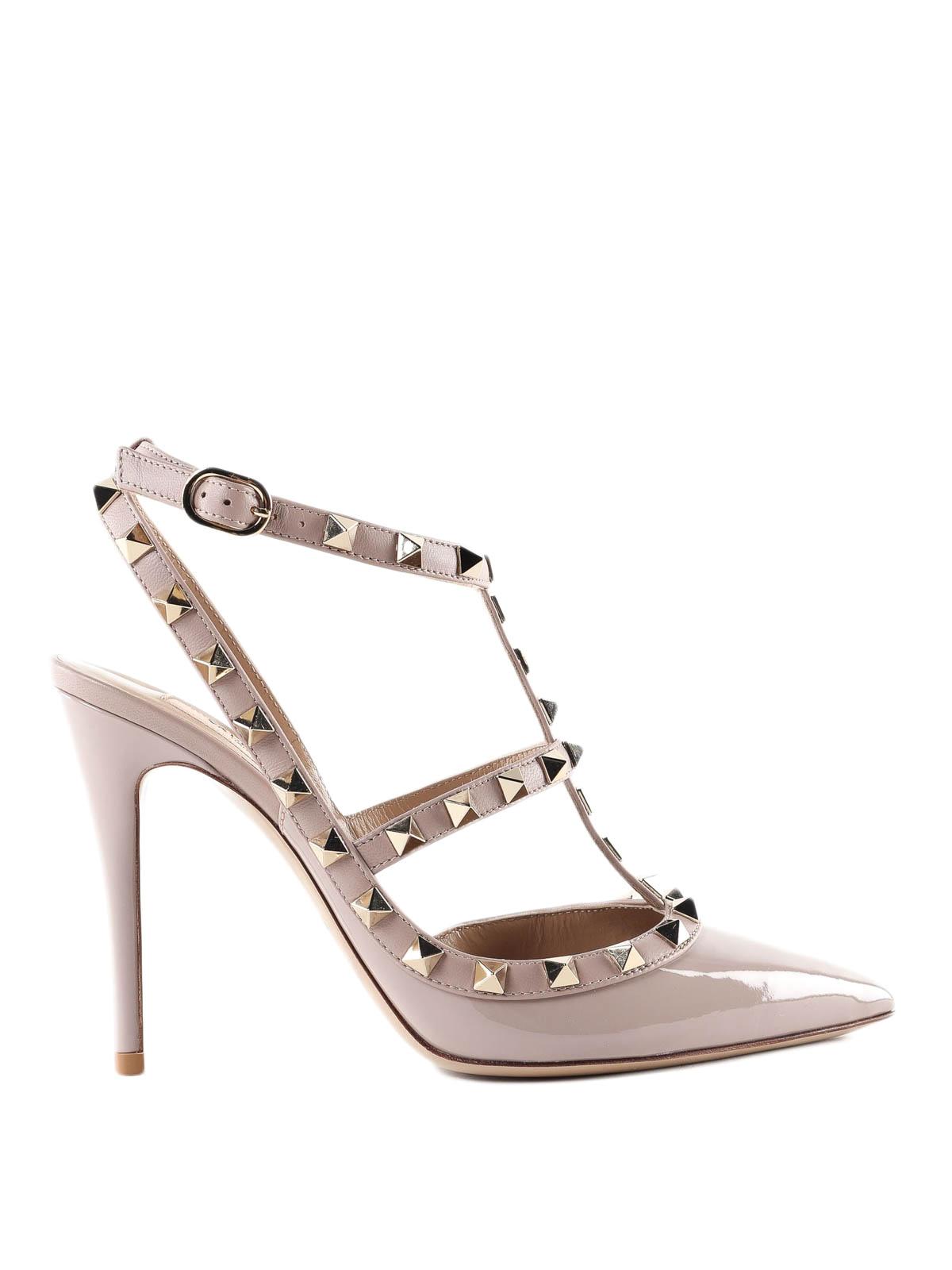 b043e31fdc4 VALENTINO GARAVANI  court shoes - Rockstud patent leather slingbacks