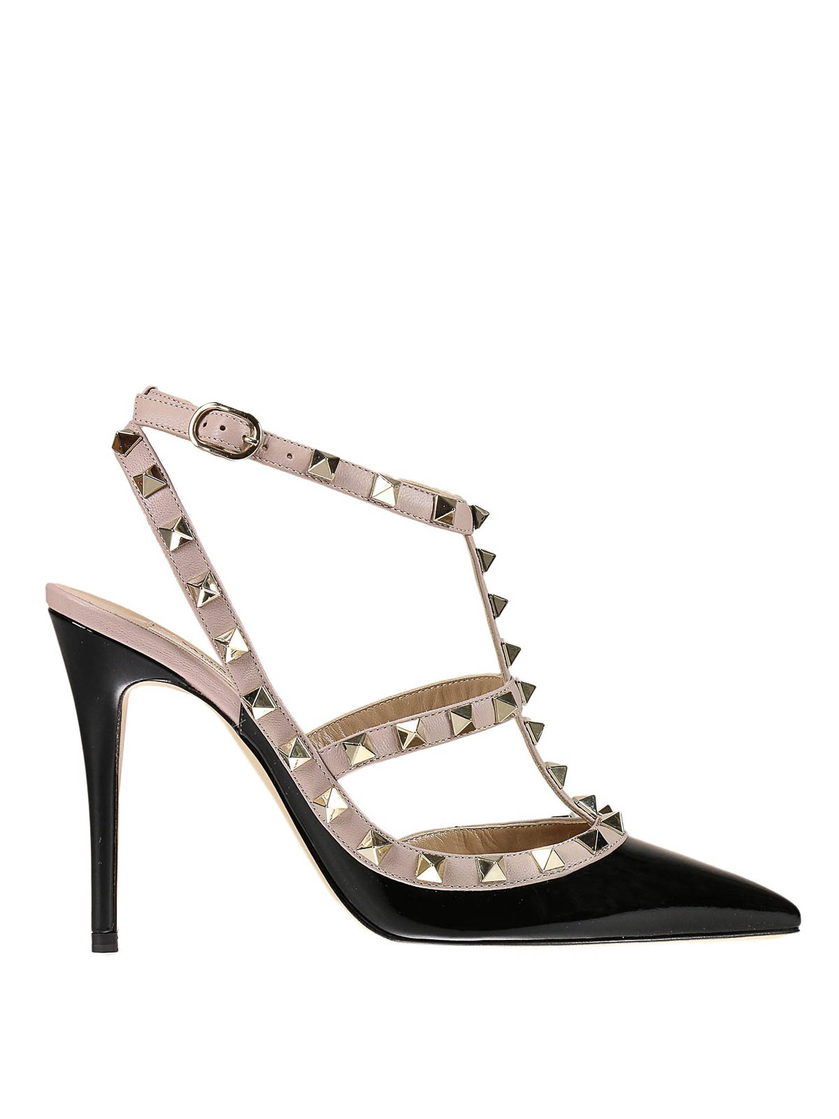 397b6bd7ea0 Valentino Garavani - Rockstud patent slingback pumps - court shoes ...