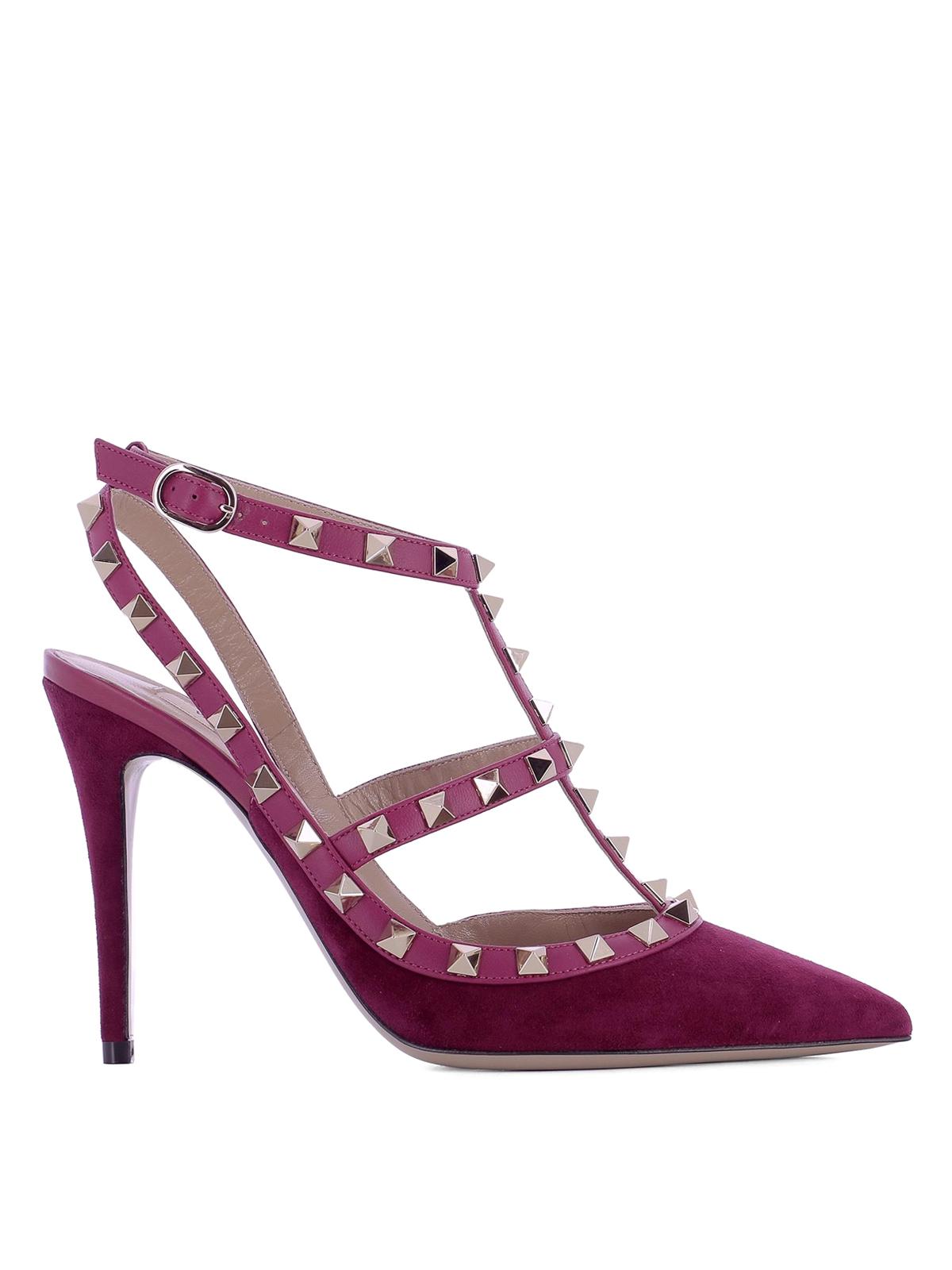 rockstud purple suede pumps by valentino garavani court shoes ikrix. Black Bedroom Furniture Sets. Home Design Ideas