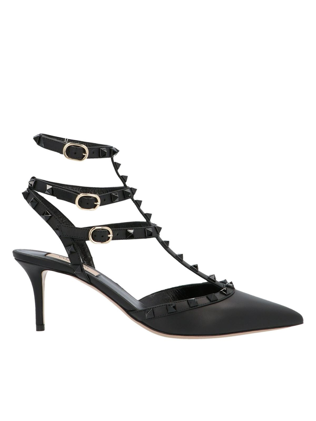 Valentino ROCKSTUD SLINGBACKS IN BLACK