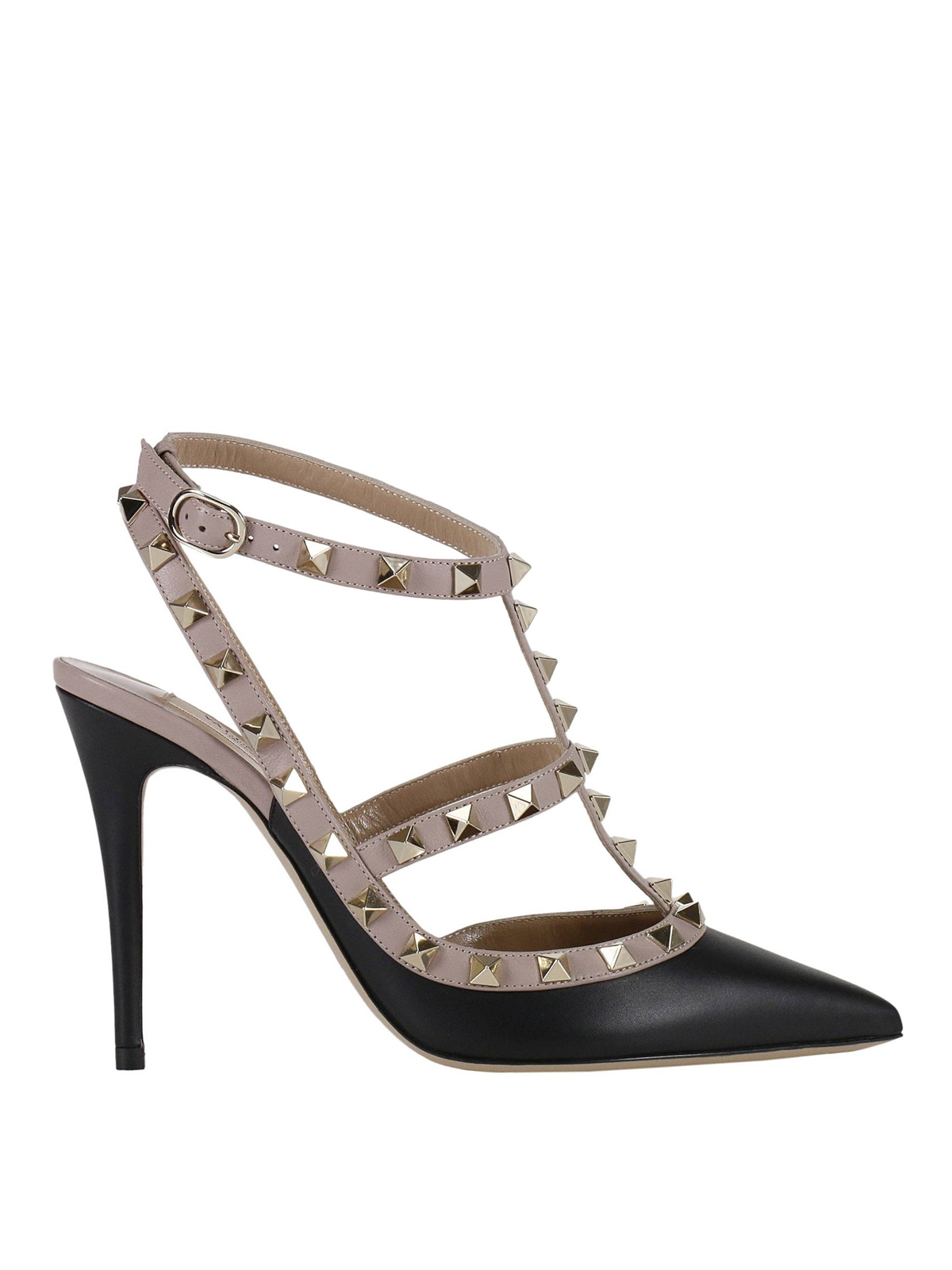 rockstud two tone slingback pumps by valentino garavani court shoes ikrix. Black Bedroom Furniture Sets. Home Design Ideas