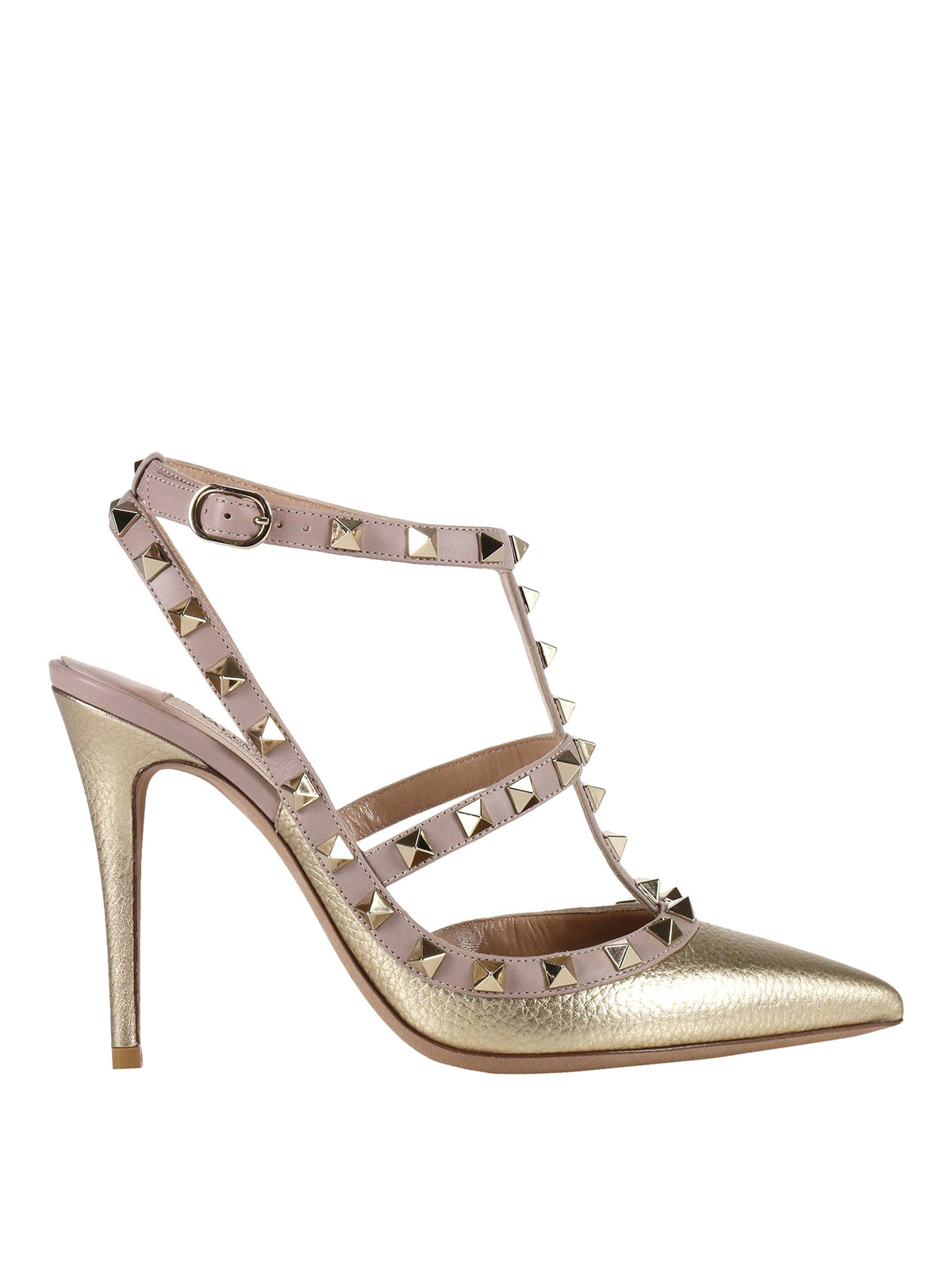 valentino garavani rockstud two tone slingback pumps court shoes nw2s0393viw39n. Black Bedroom Furniture Sets. Home Design Ideas
